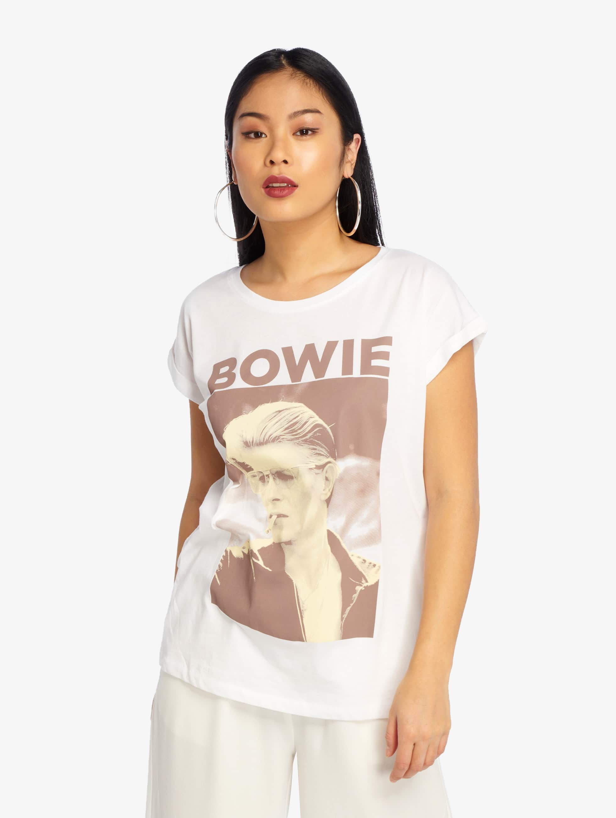 Mister Tee T-skjorter David Bowie hvit