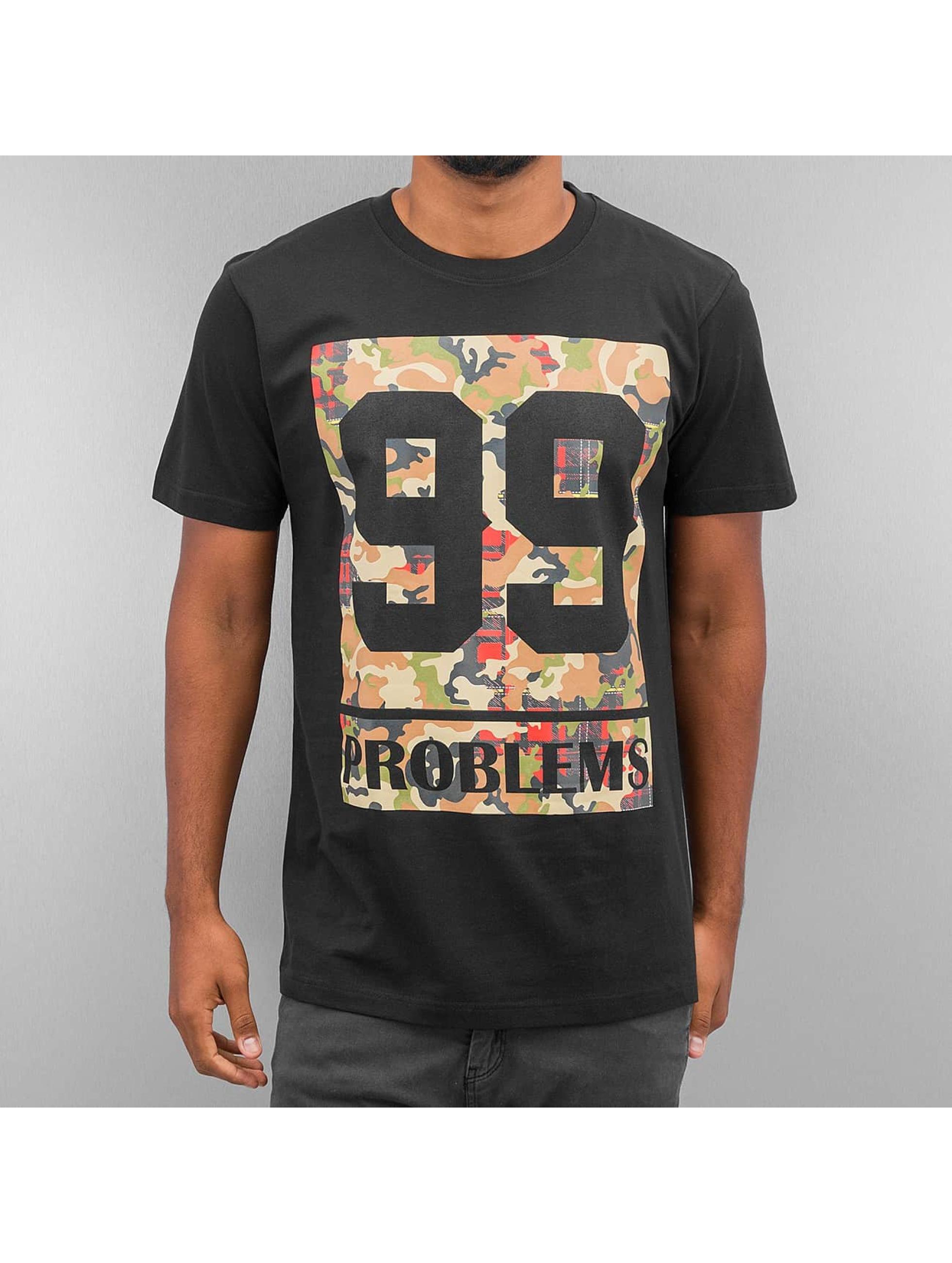 Mister Tee T-skjorter 99 Problems Block Camo svart