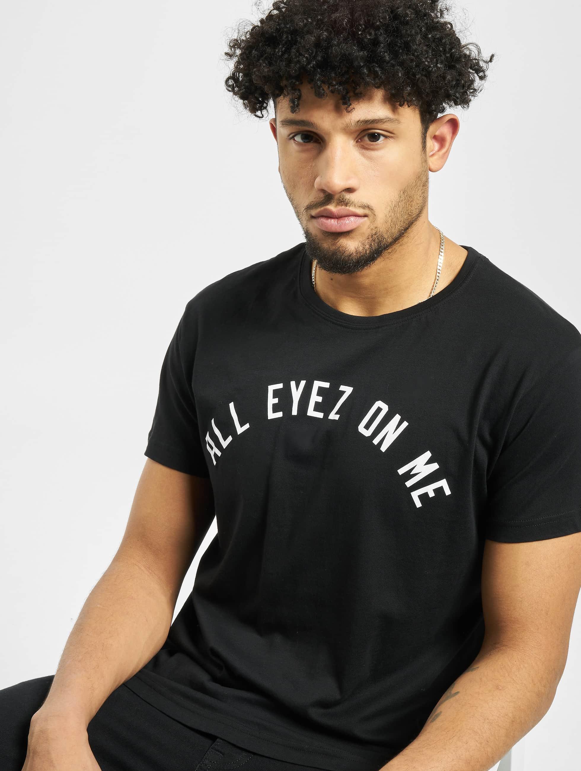 Mister Tee T-skjorter 2Pac Eyez Long svart