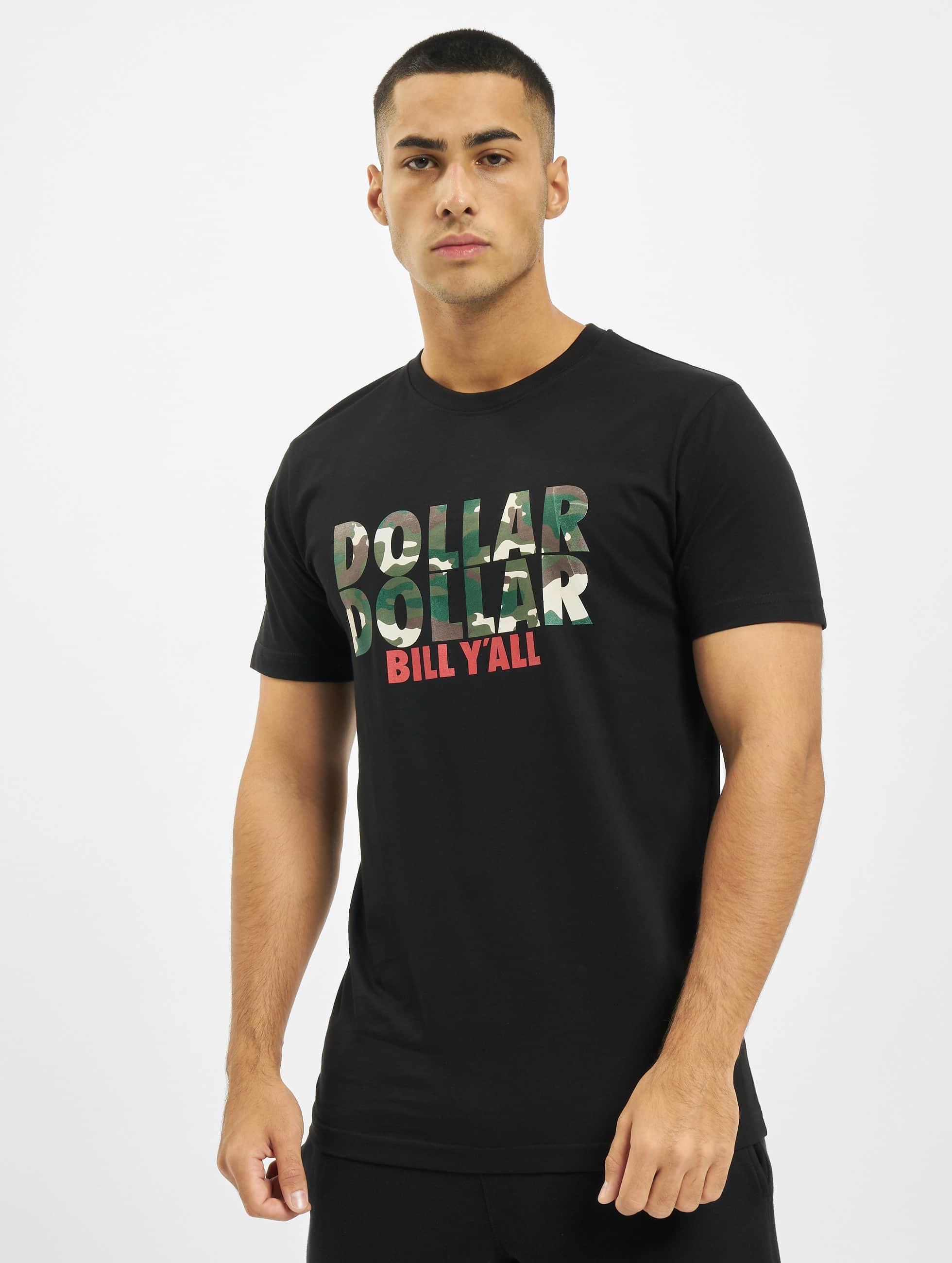 Mister Tee T-skjorter Dollar svart