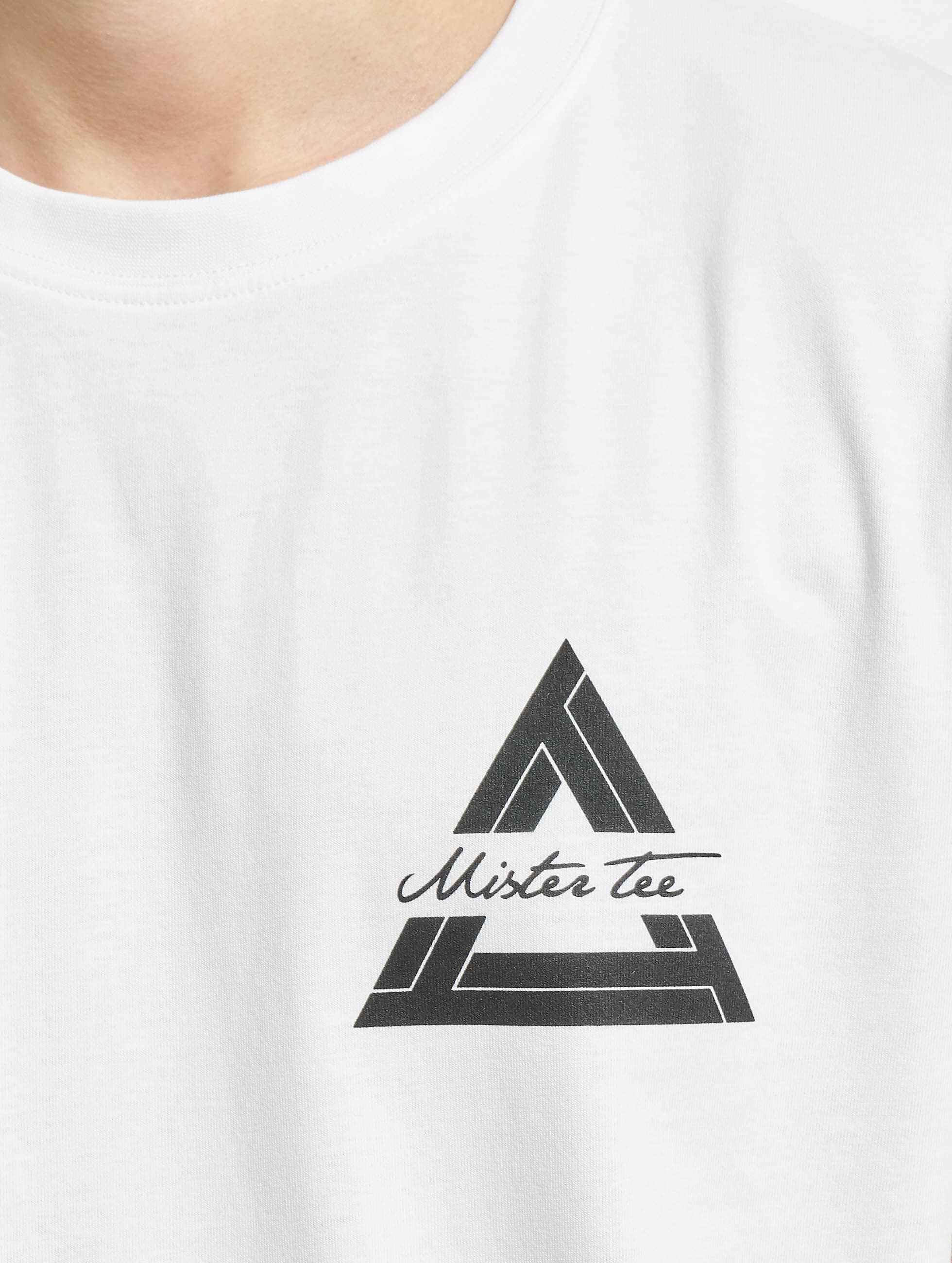 Mister Tee Tričká Triangle biela