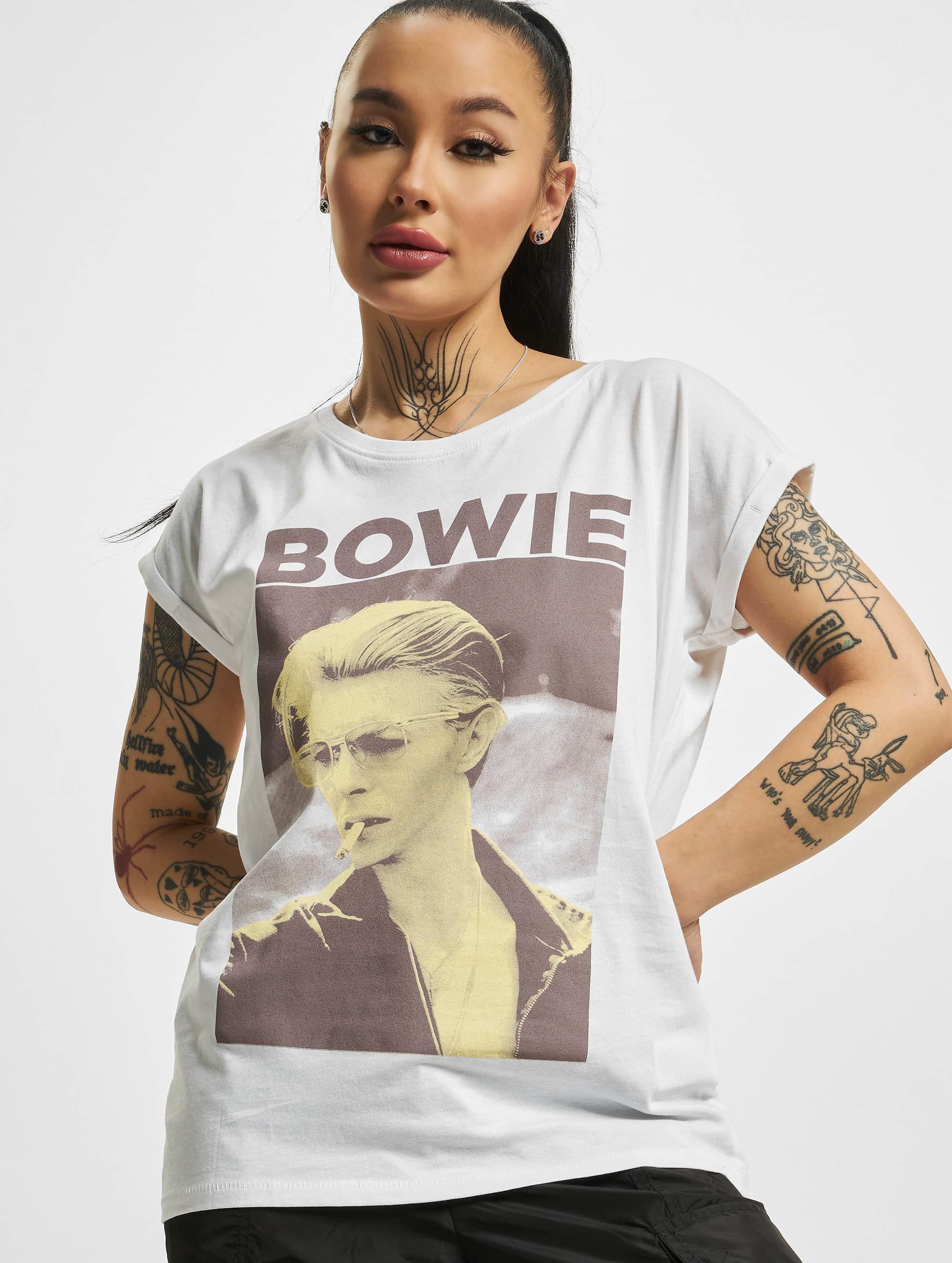 Mister Tee Tričká David Bowie biela