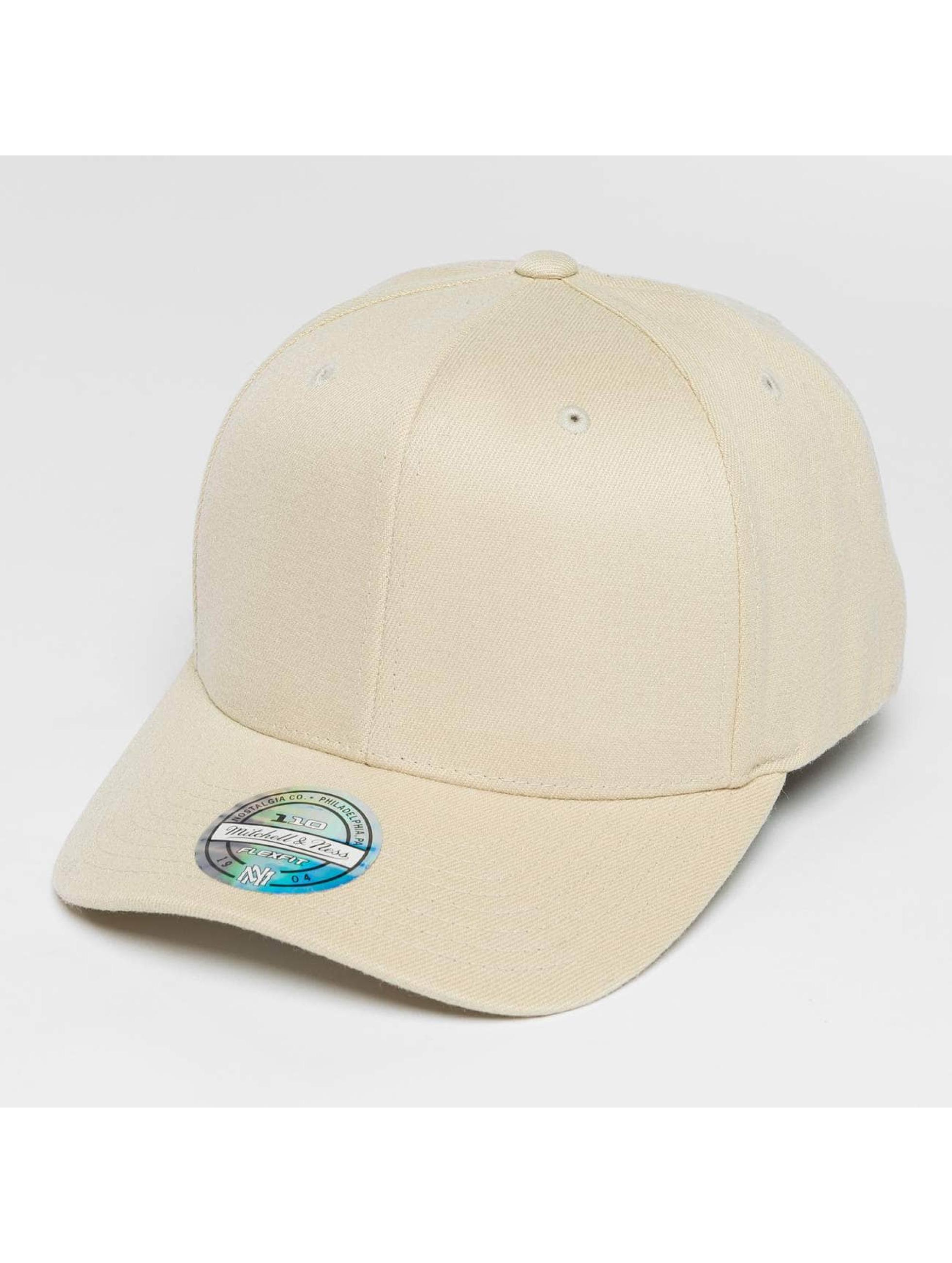 Mitchell & Ness Casquette Snapback & Strapback Blank Flat Peak 110 Curved beige