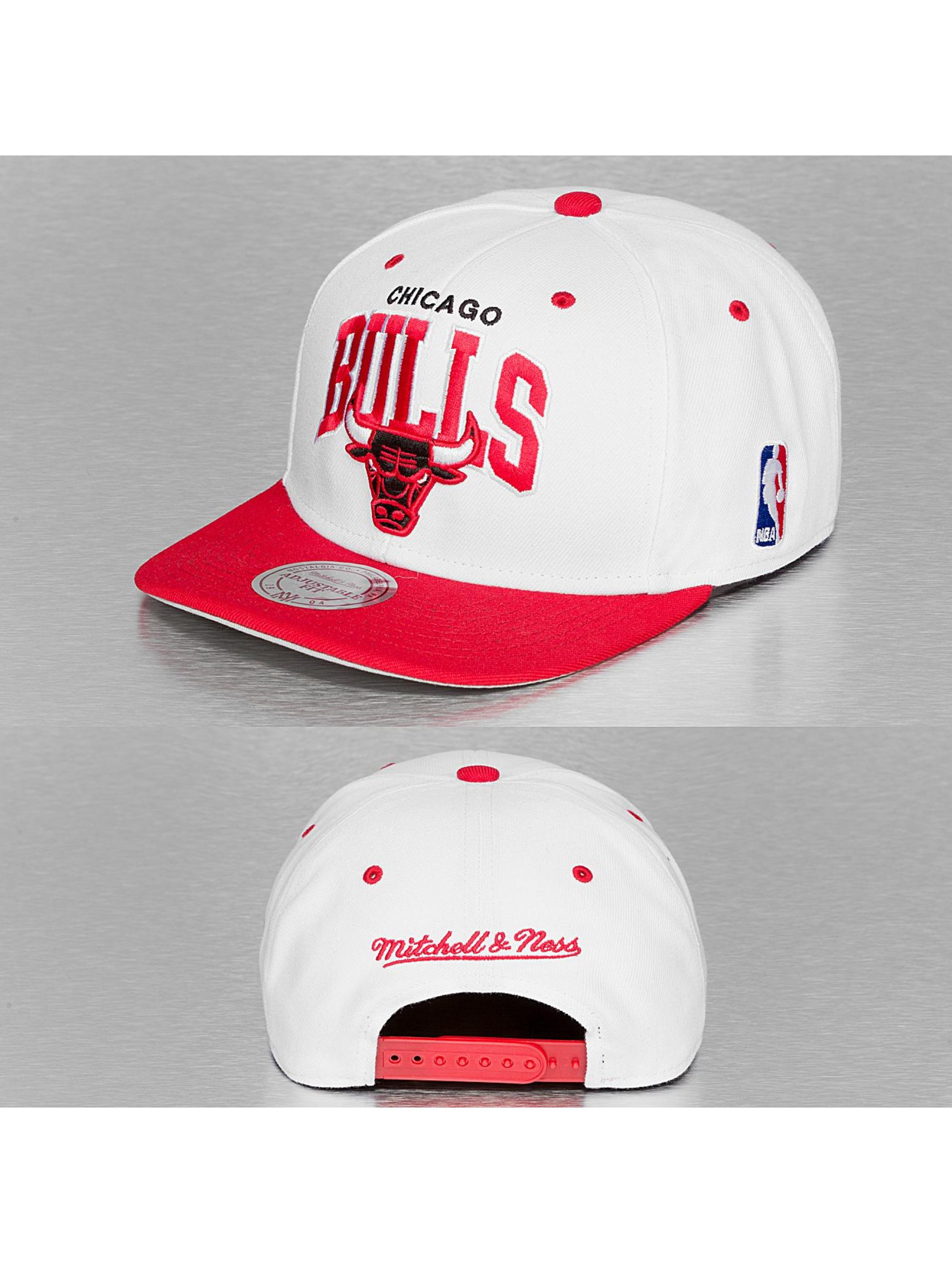 Mitchell & Ness Casquette Snapback & Strapback Chicago Bulls blanc