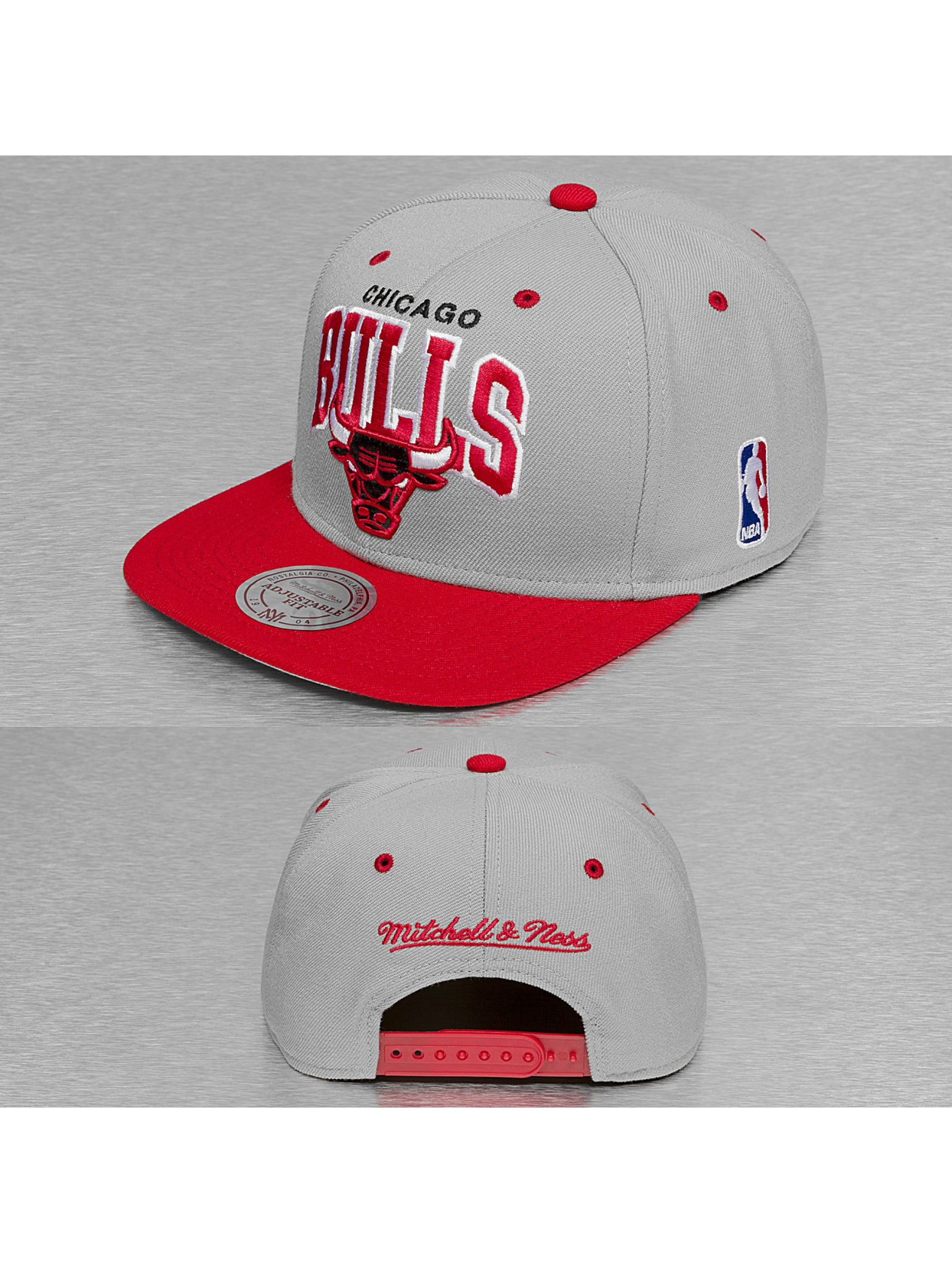 Mitchell & Ness Casquette Snapback & Strapback Team Arch 2 Tone Chicago Bulls gris