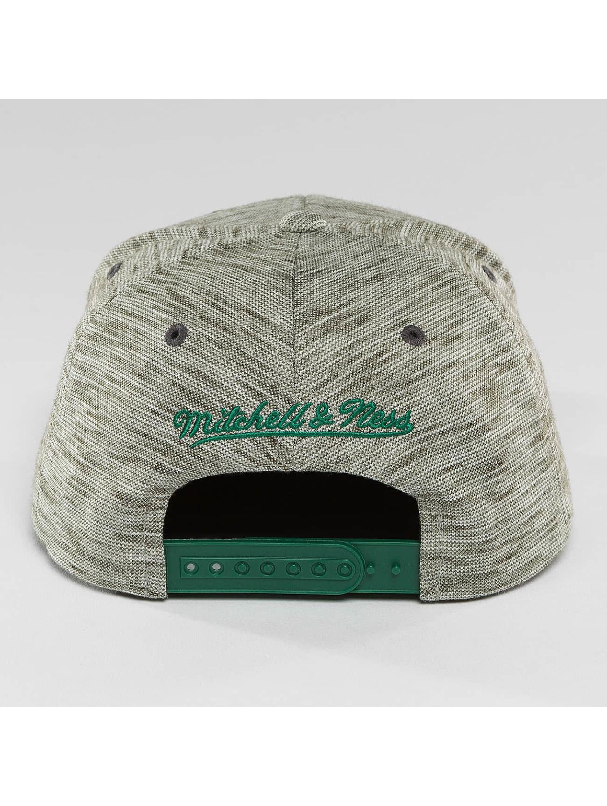 Mitchell & Ness Casquette Snapback & Strapback NBA Brushed Melange Boston Celtics gris