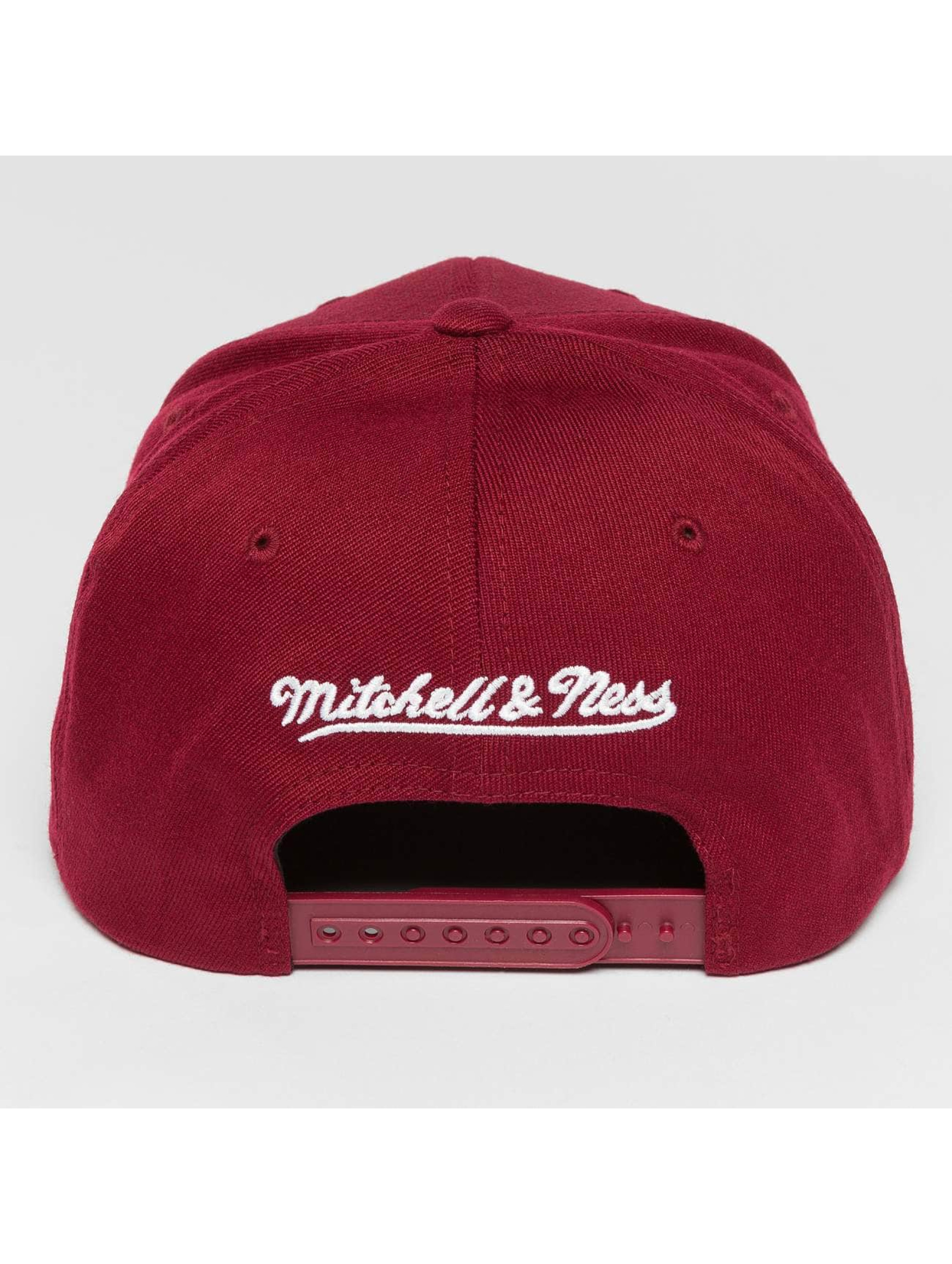 Mitchell & Ness Casquette Snapback & Strapback Blank Flat Peak 110 Curved rouge