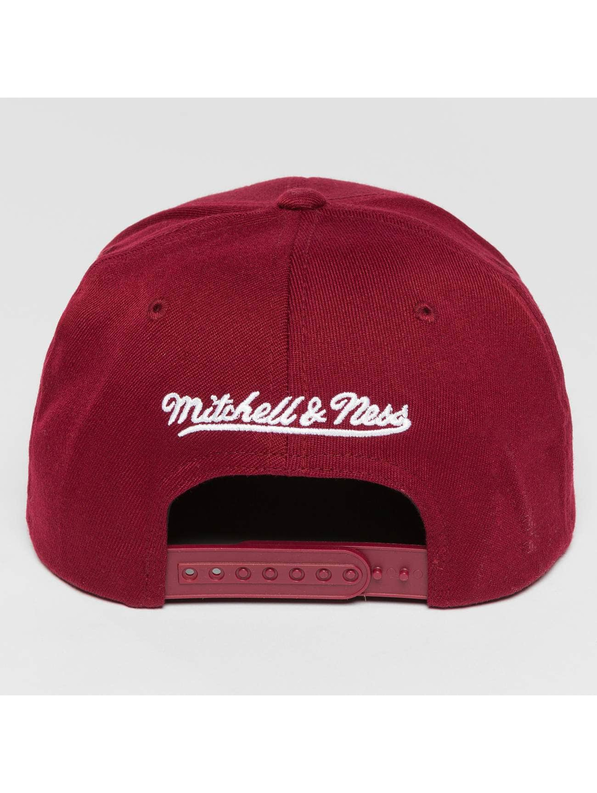 Mitchell & Ness Casquette Snapback & Strapback Blank Flat Peak rouge