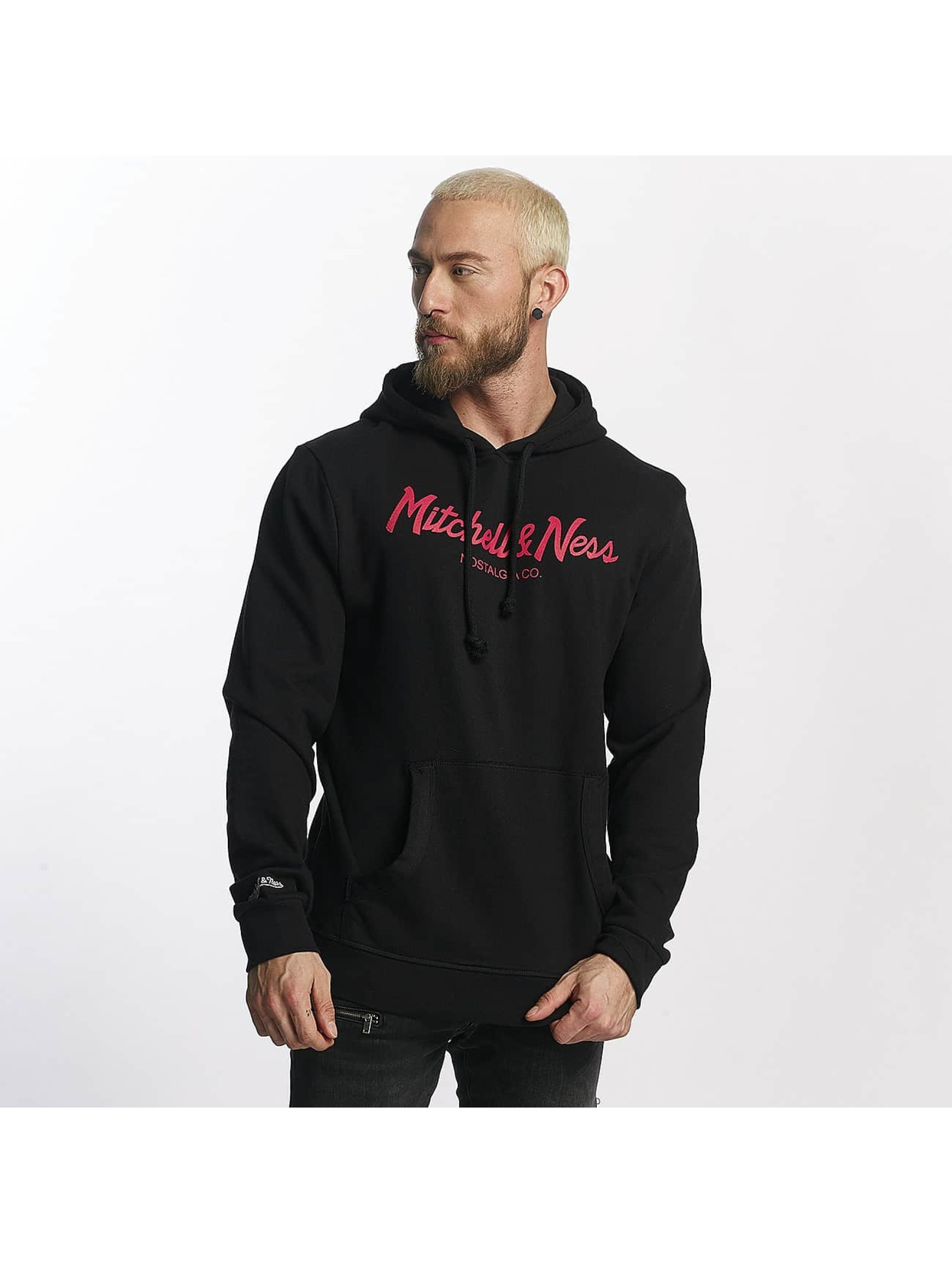 Mitchell & Ness Hoodie Red Pop Pinscript black