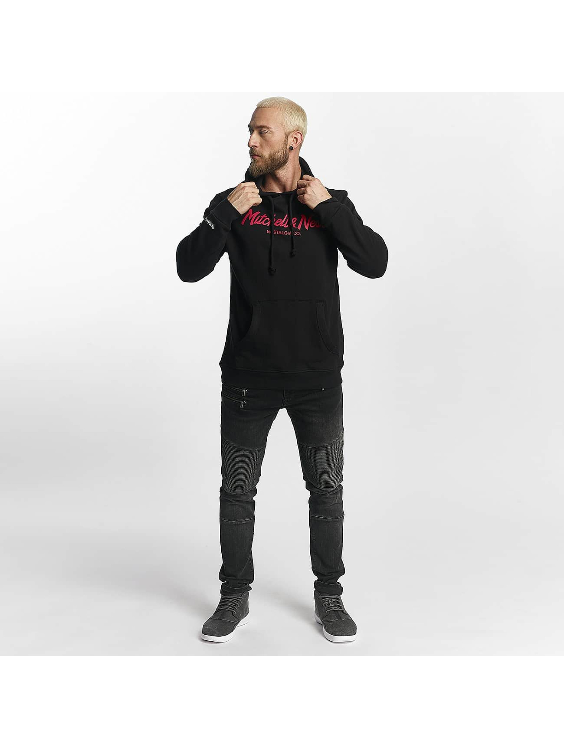 Mitchell & Ness Hoody Red Pop Pinscript schwarz