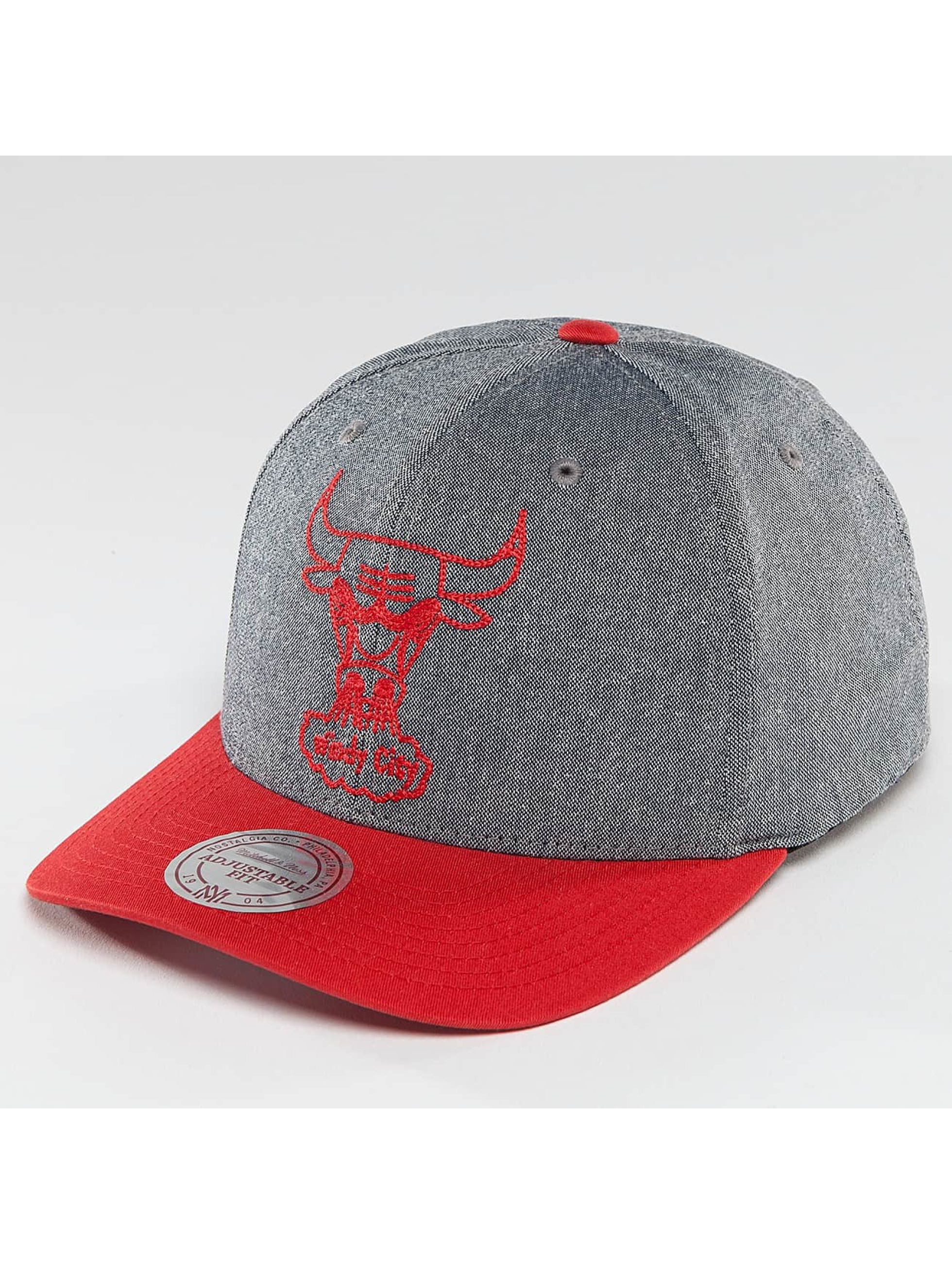 Mitchell & Ness Snapback NBA Link Flexfit 110 Chicago Bulls šedá