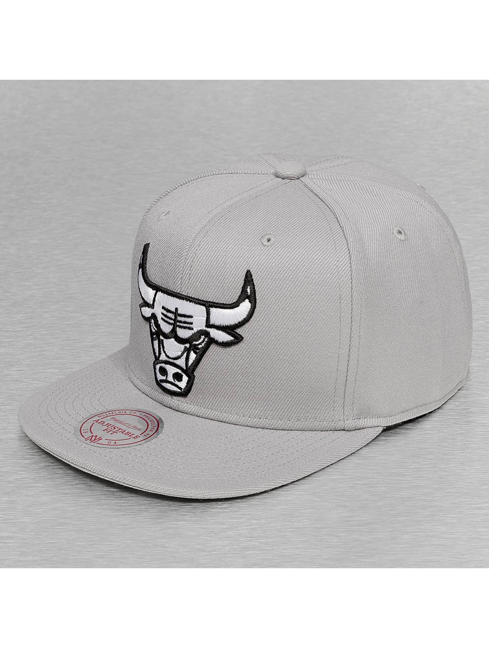 Mitchell & Ness Snapback Cap Black & White Logo Series grau