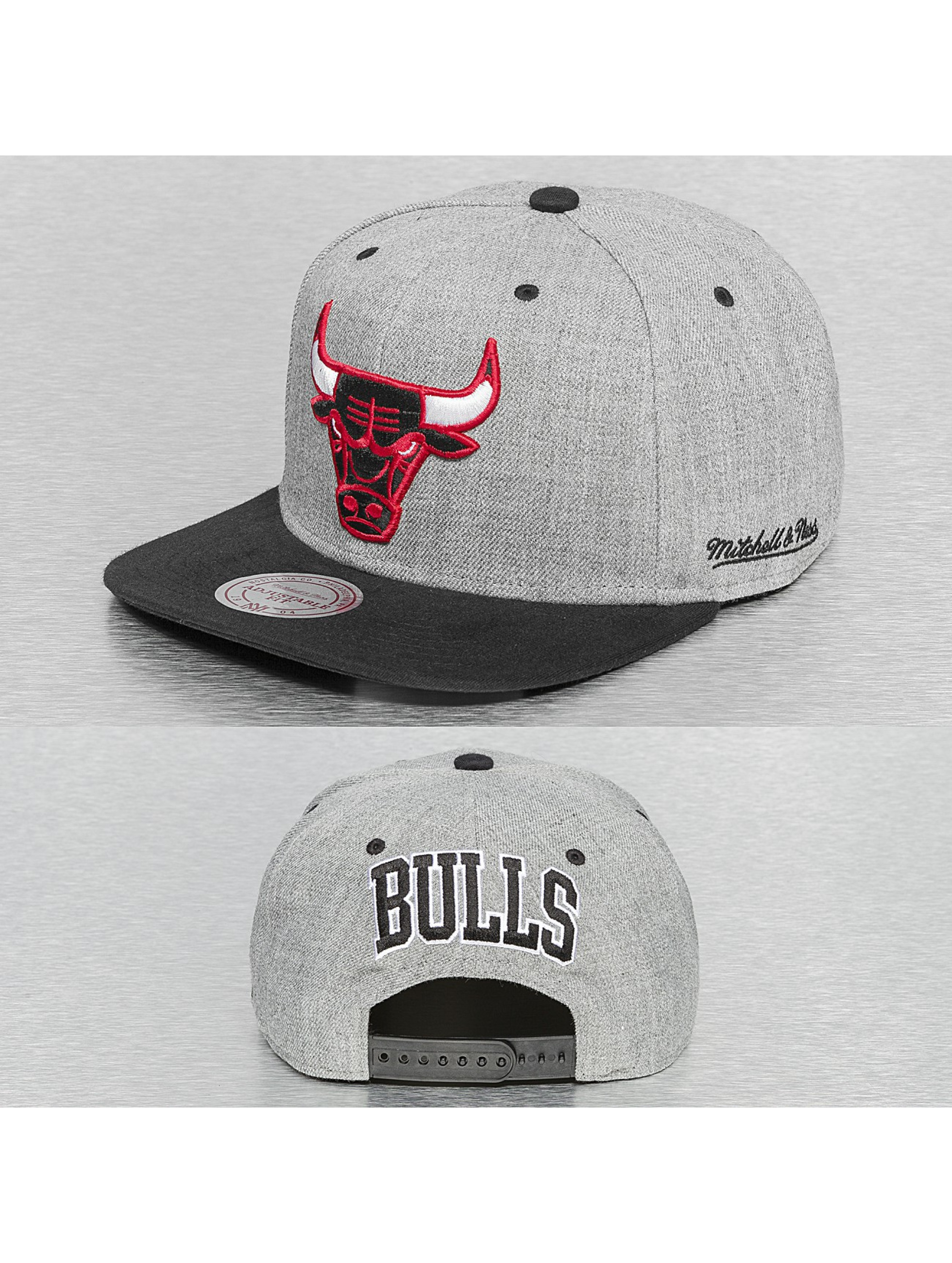 Mitchell & Ness Snapback Cap Back Board Chicago Bulls grau