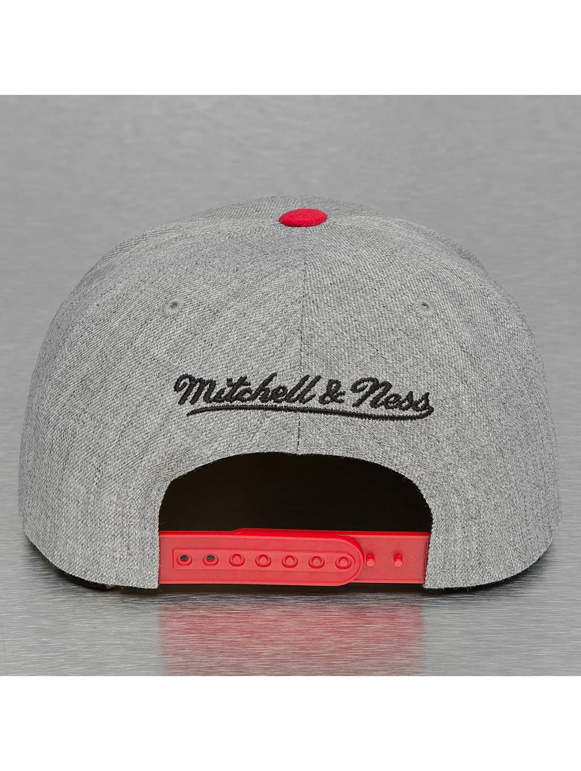 Mitchell & Ness Snapback Cap Heather Micro Chicago Bulls grau