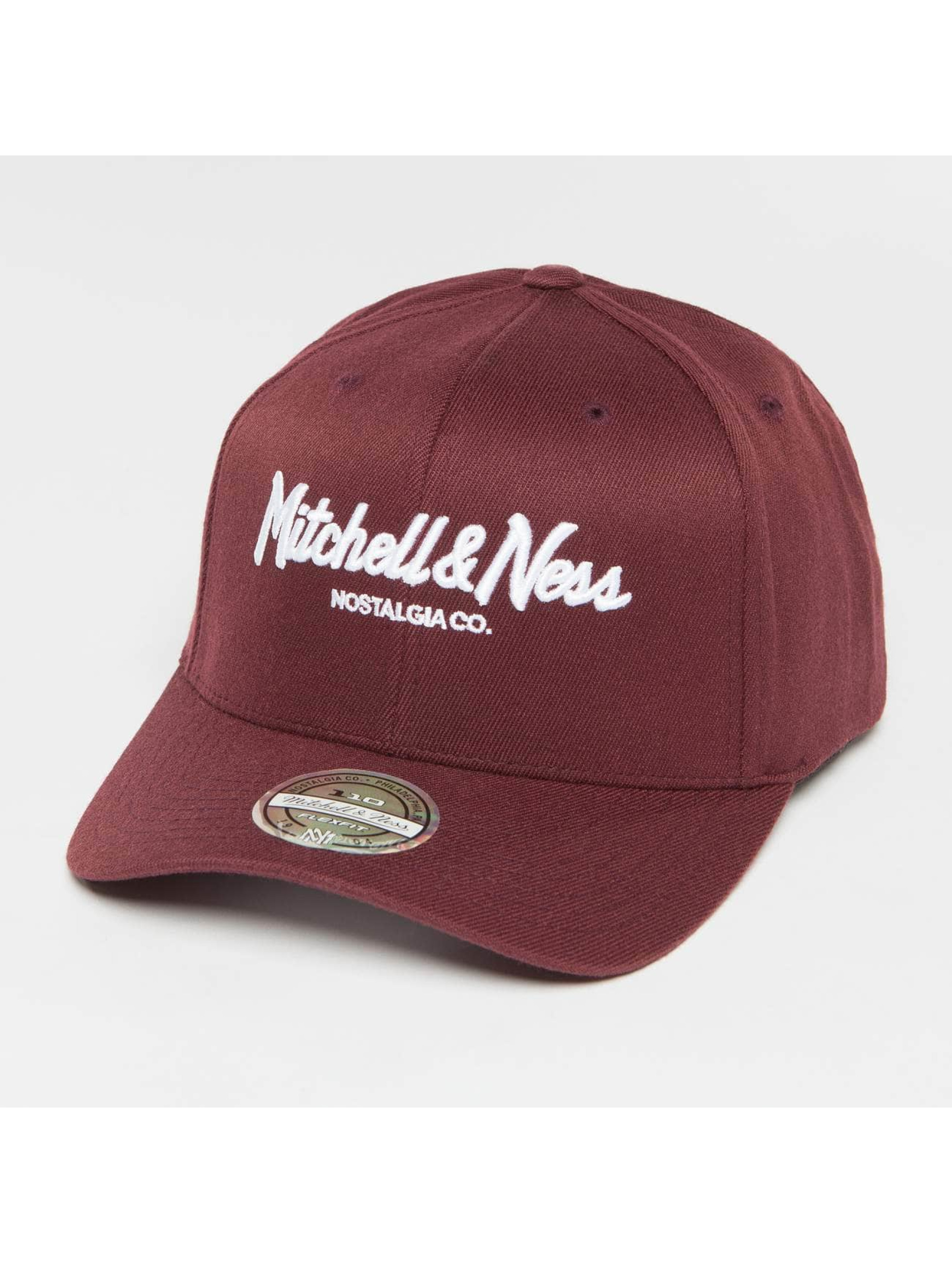 Mitchell & Ness Snapback Cap Own Brand Pinscript High Crown 110 red