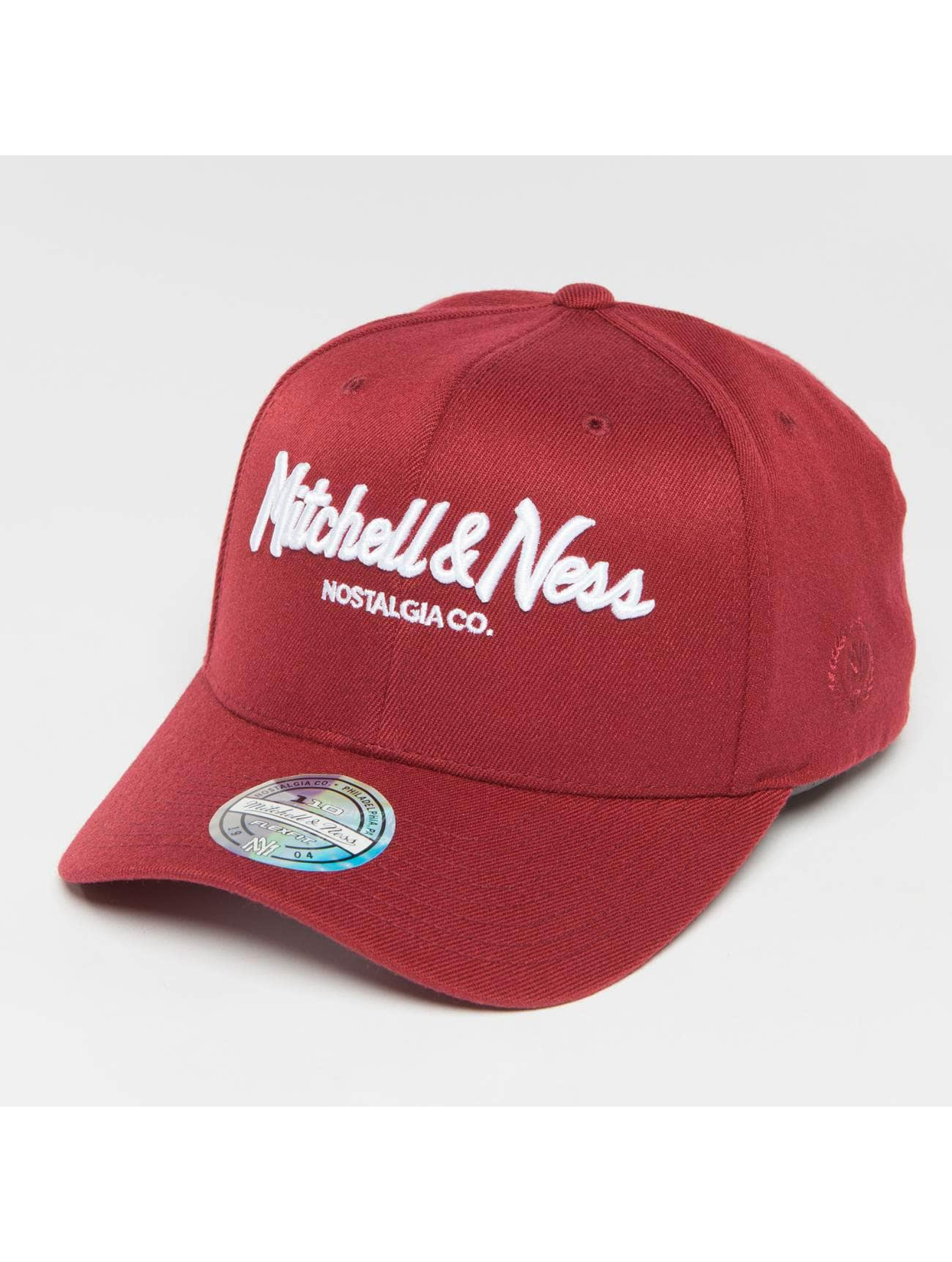 Mitchell & Ness snapback cap The Burgundy 2-Tone Pinscript 110 rood