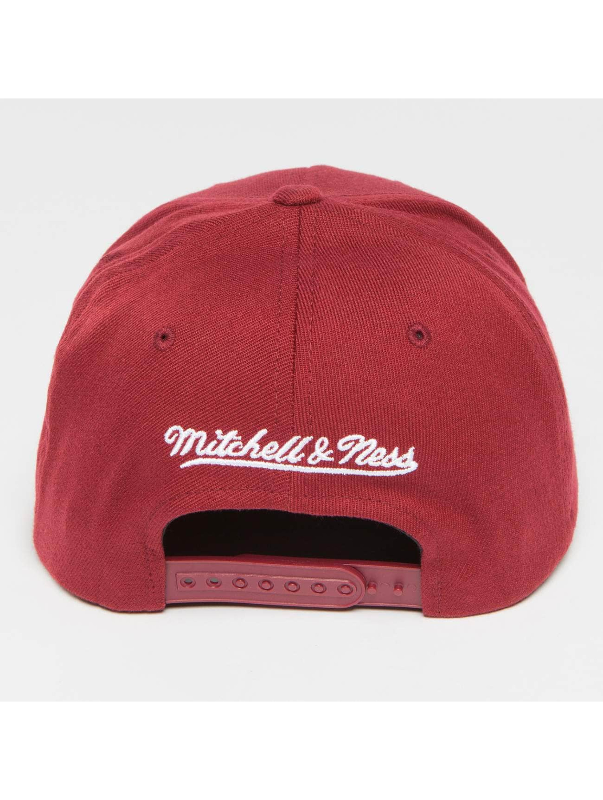 Mitchell & Ness Snapback Cap The Burgundy 2-Tone Visor Sticker 110 rot