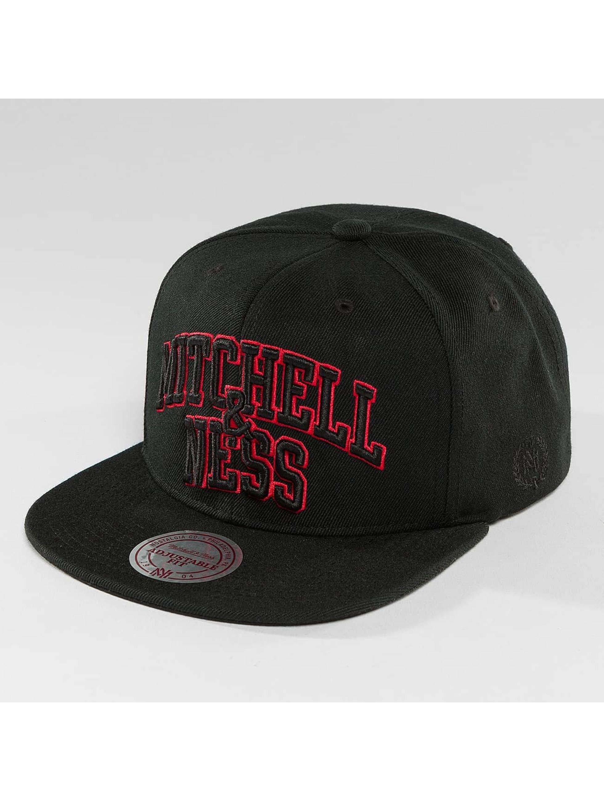 Mitchell & Ness Snapback Cap Red Pop Team Arch schwarz