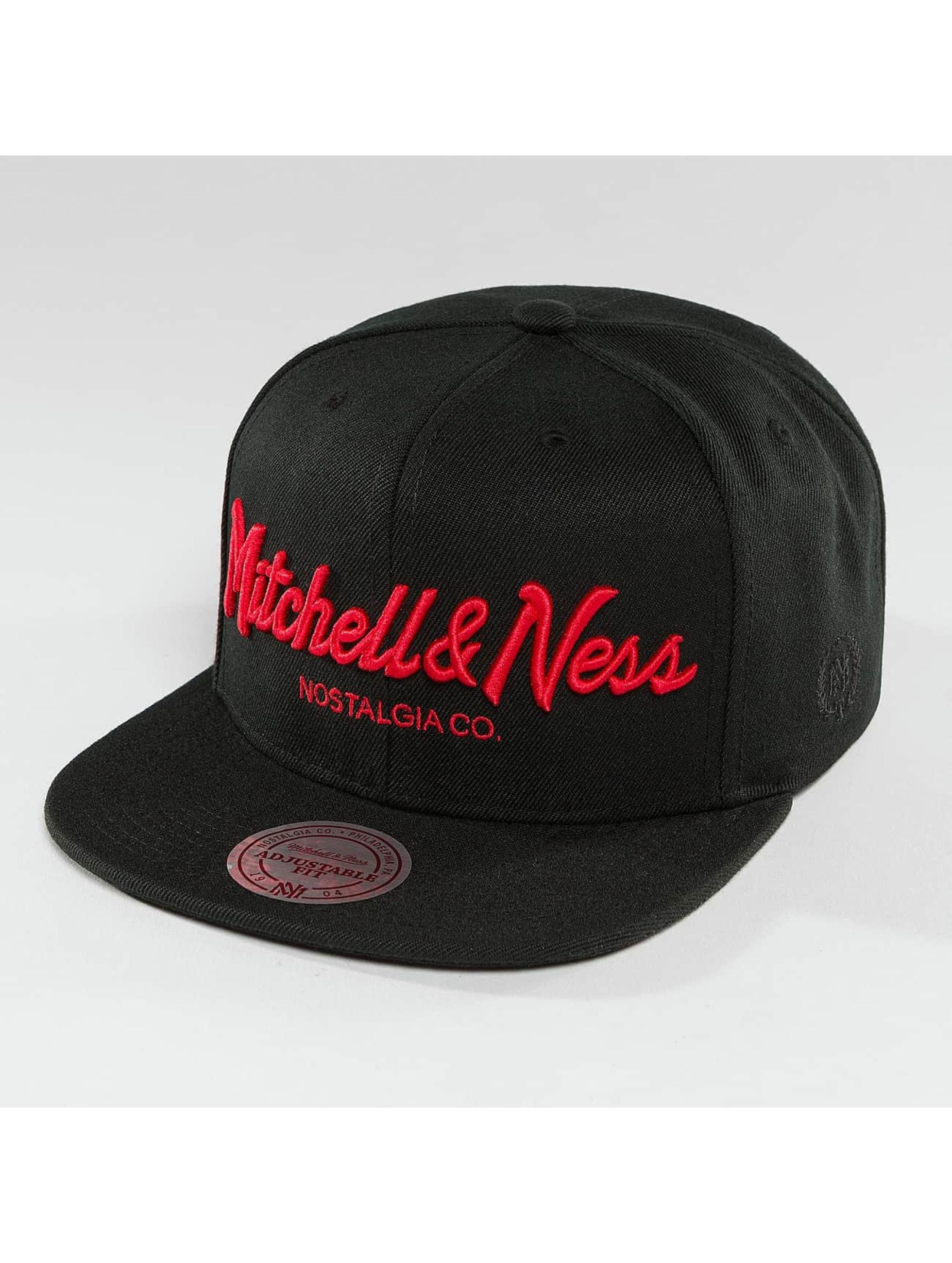 Mitchell & Ness Snapback Cap Red Pop Pinscript schwarz