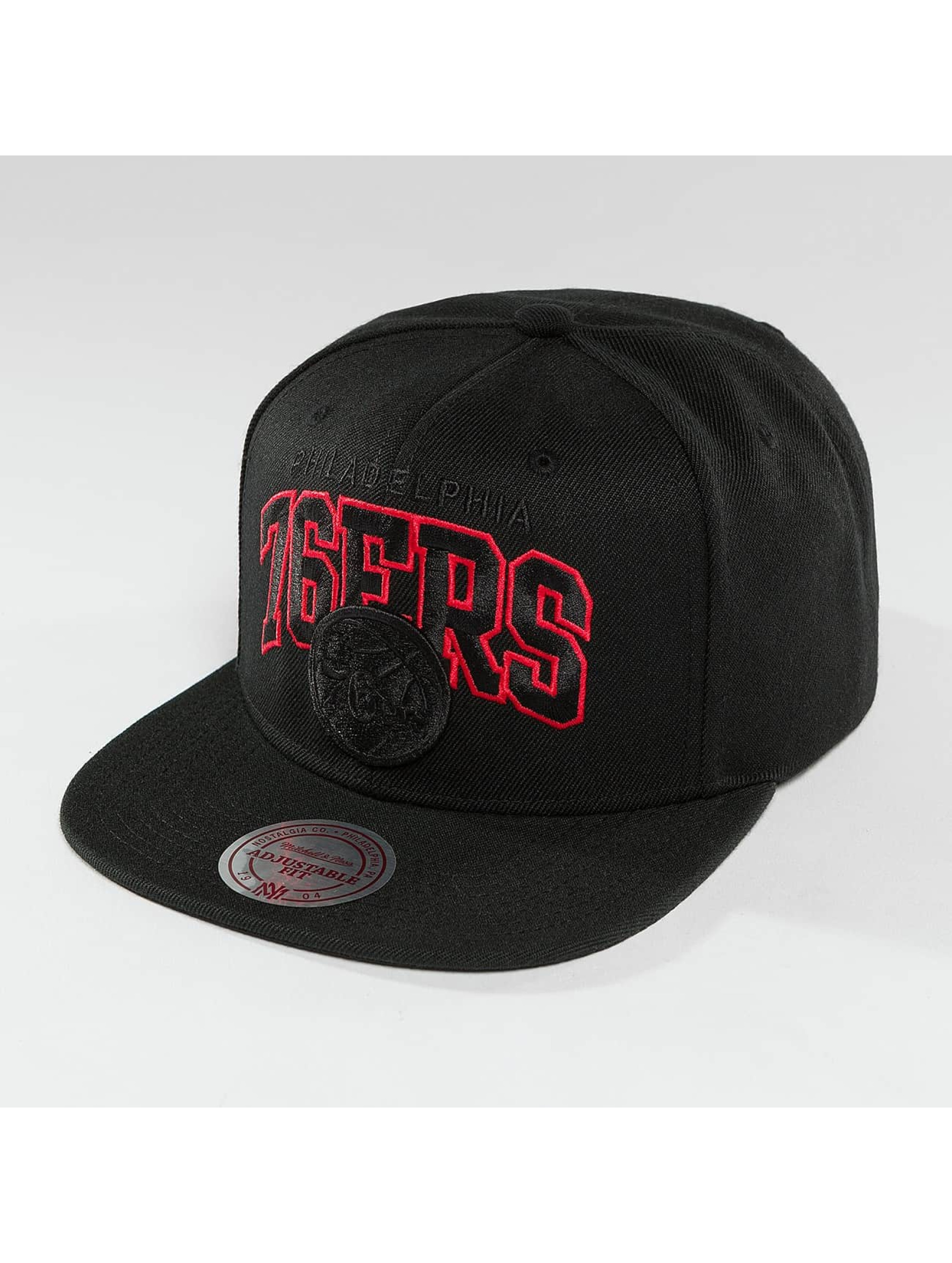 Mitchell & Ness Snapback Cap Red Pop Philadelphia 76ers schwarz