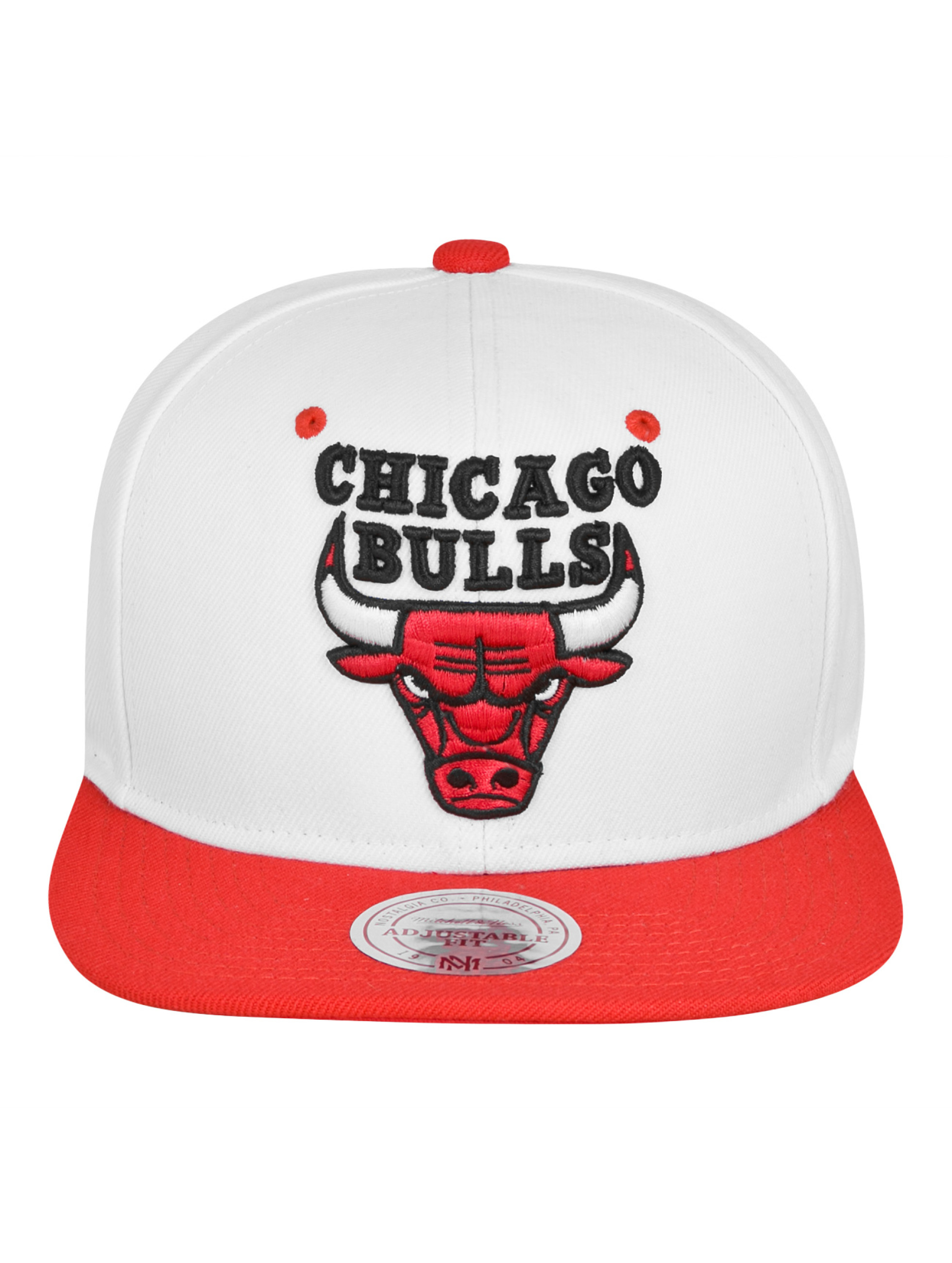 Mitchell & Ness snapback cap Chicago Bulls wit