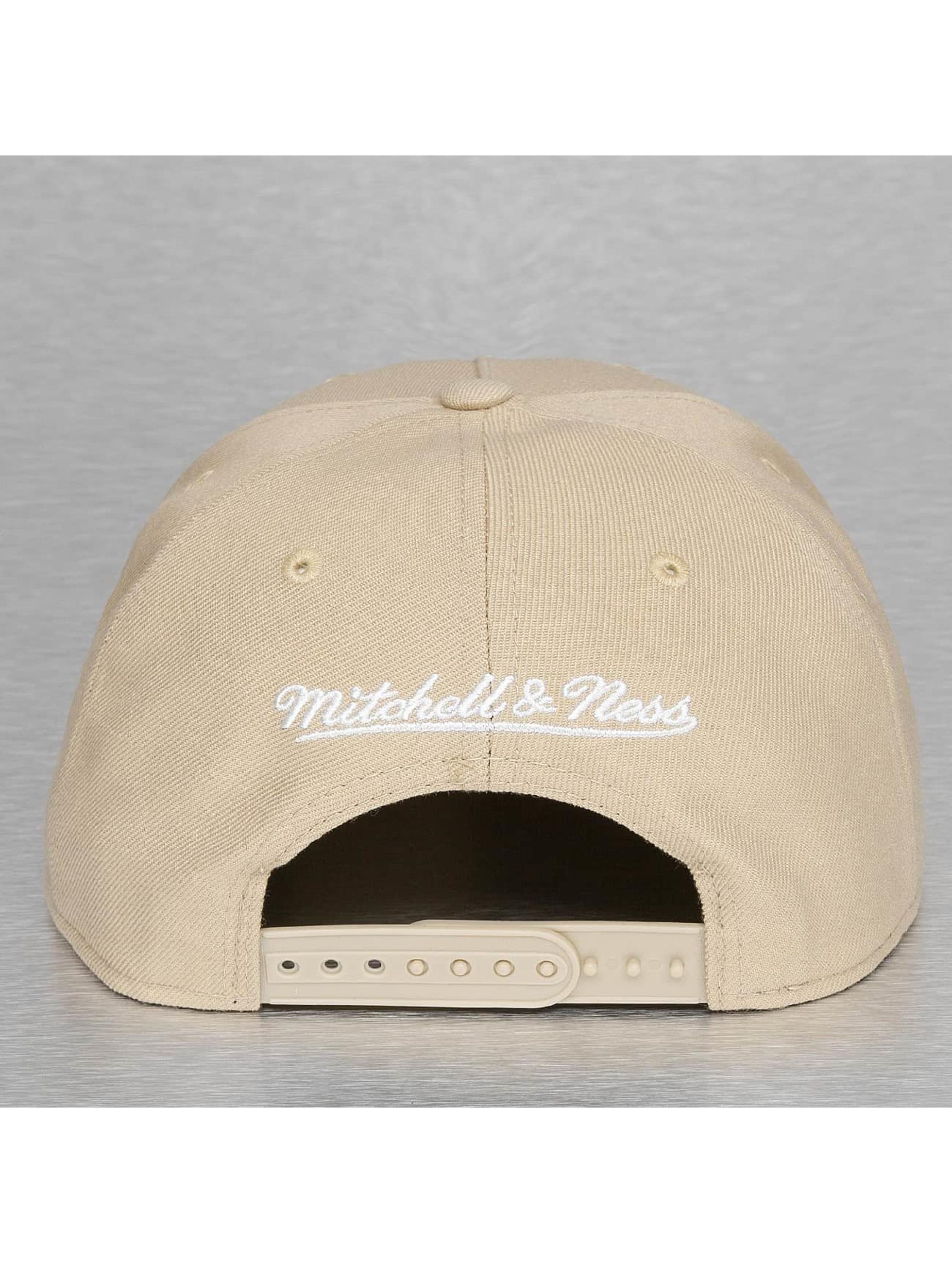 Mitchell & Ness Snapback Caps Pinscript beige