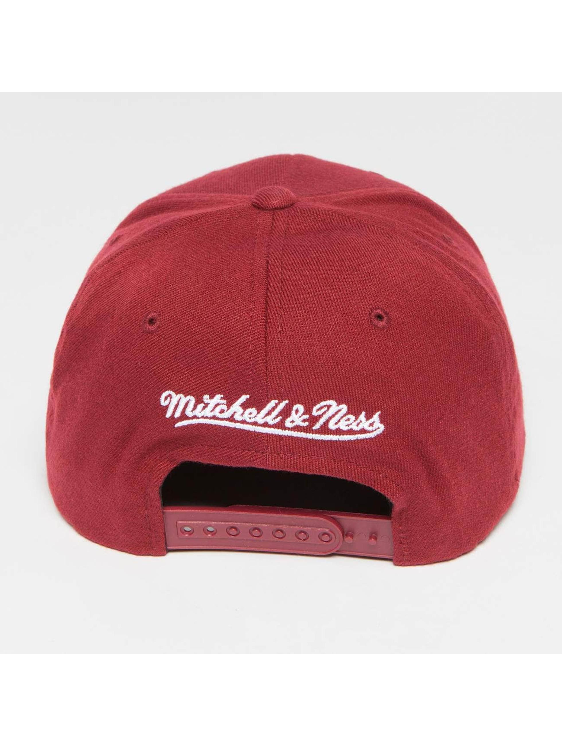 Mitchell & Ness Snapback Caps The Burgundy 2-Tone Pinscript 110 czerwony