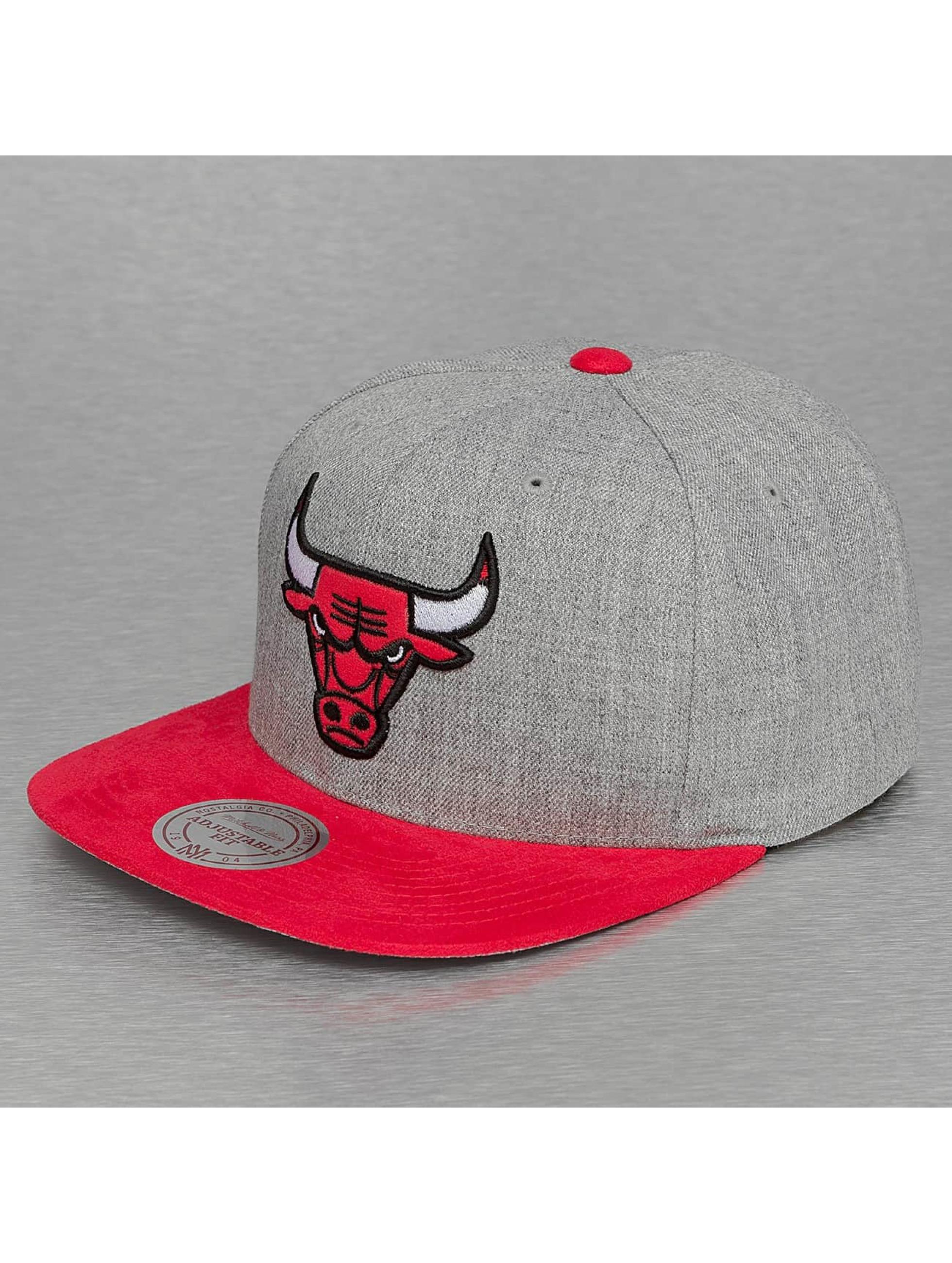 Mitchell & Ness Snapback Caps Heather Micro Chicago Bulls grå