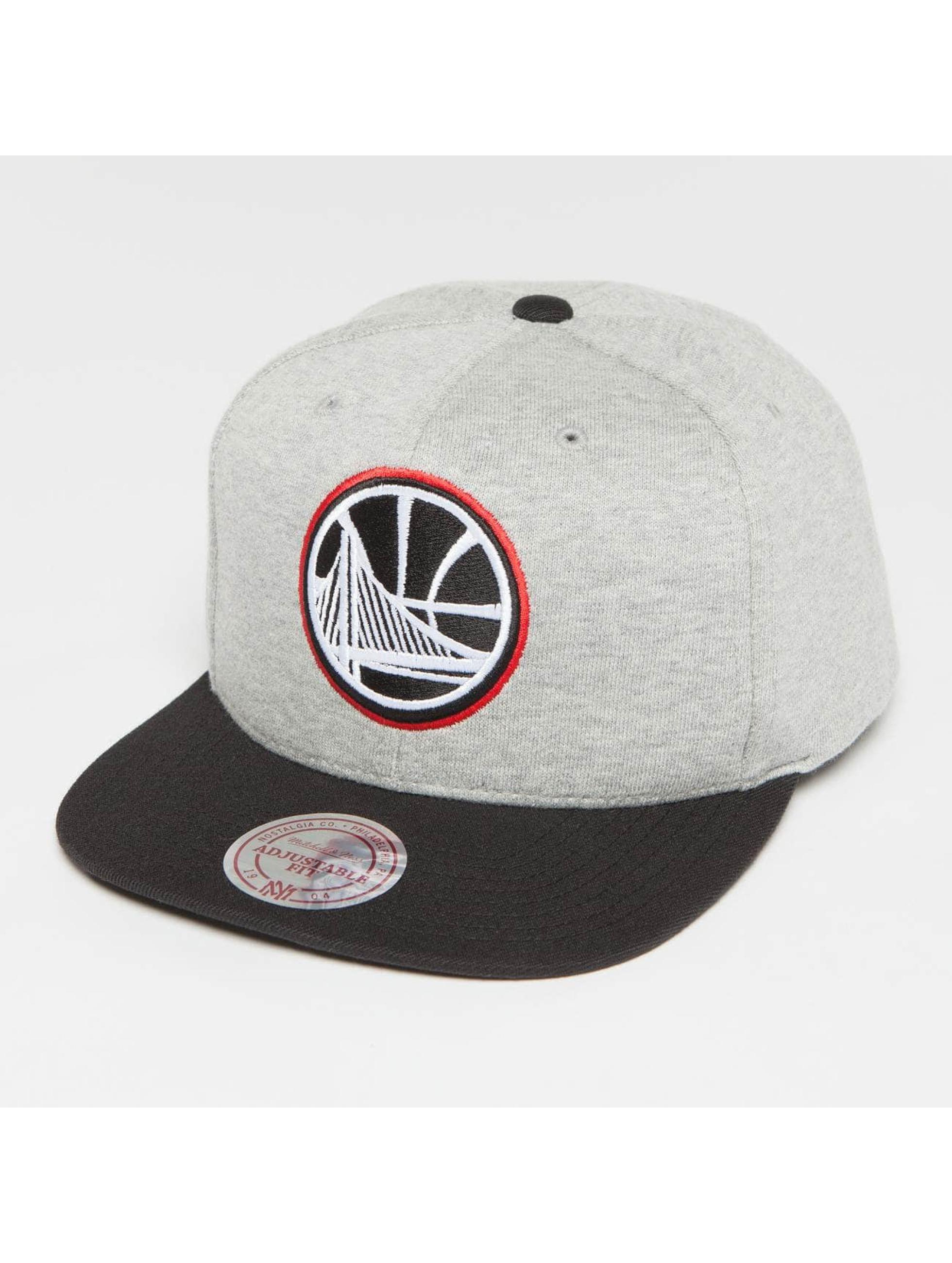 Mitchell & Ness Snapback Caps The 3-Tone NBA Golden State Warriors grå