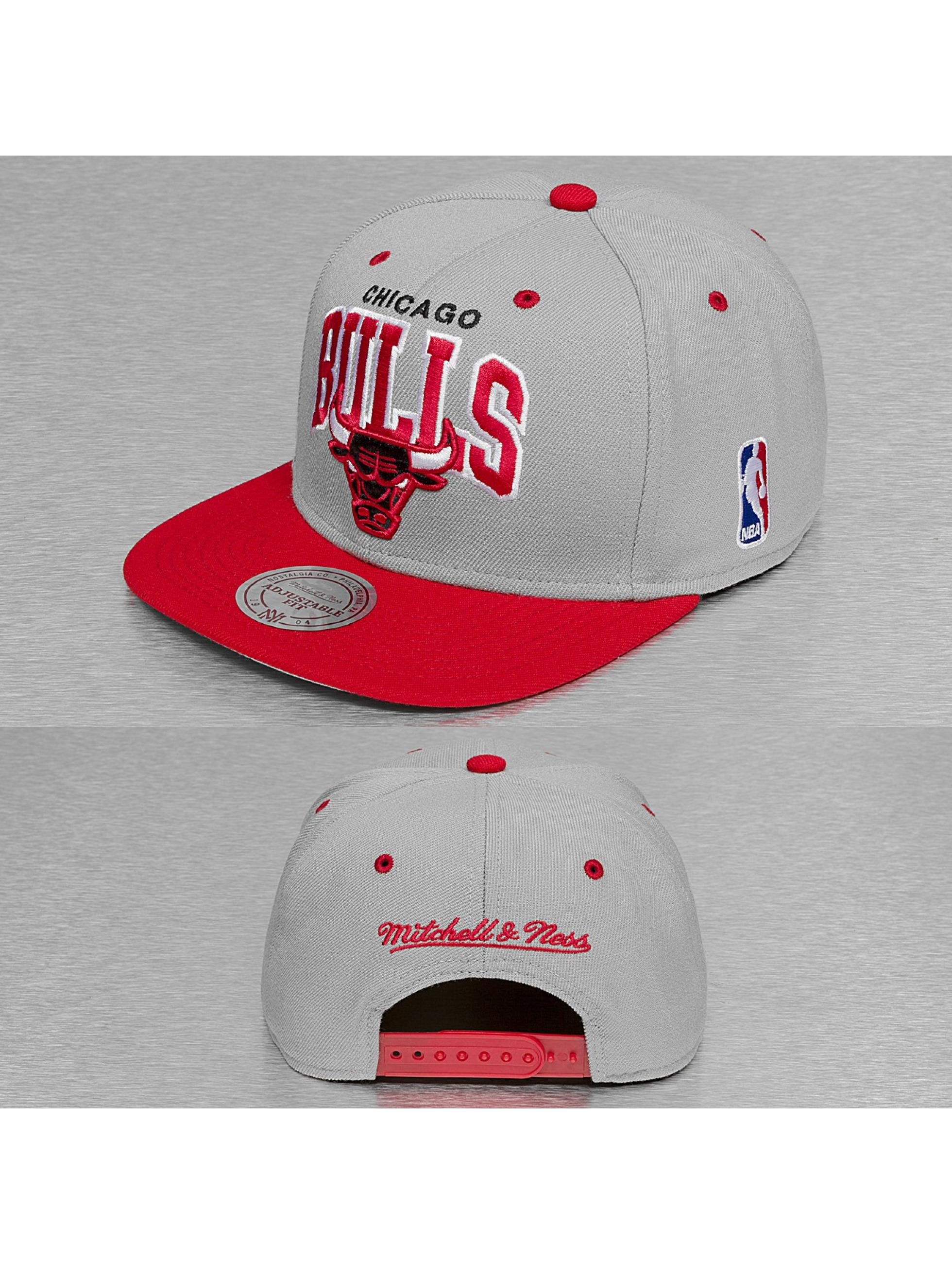 Mitchell & Ness Snapback Caps Team Arch 2 Tone Chicago Bulls harmaa