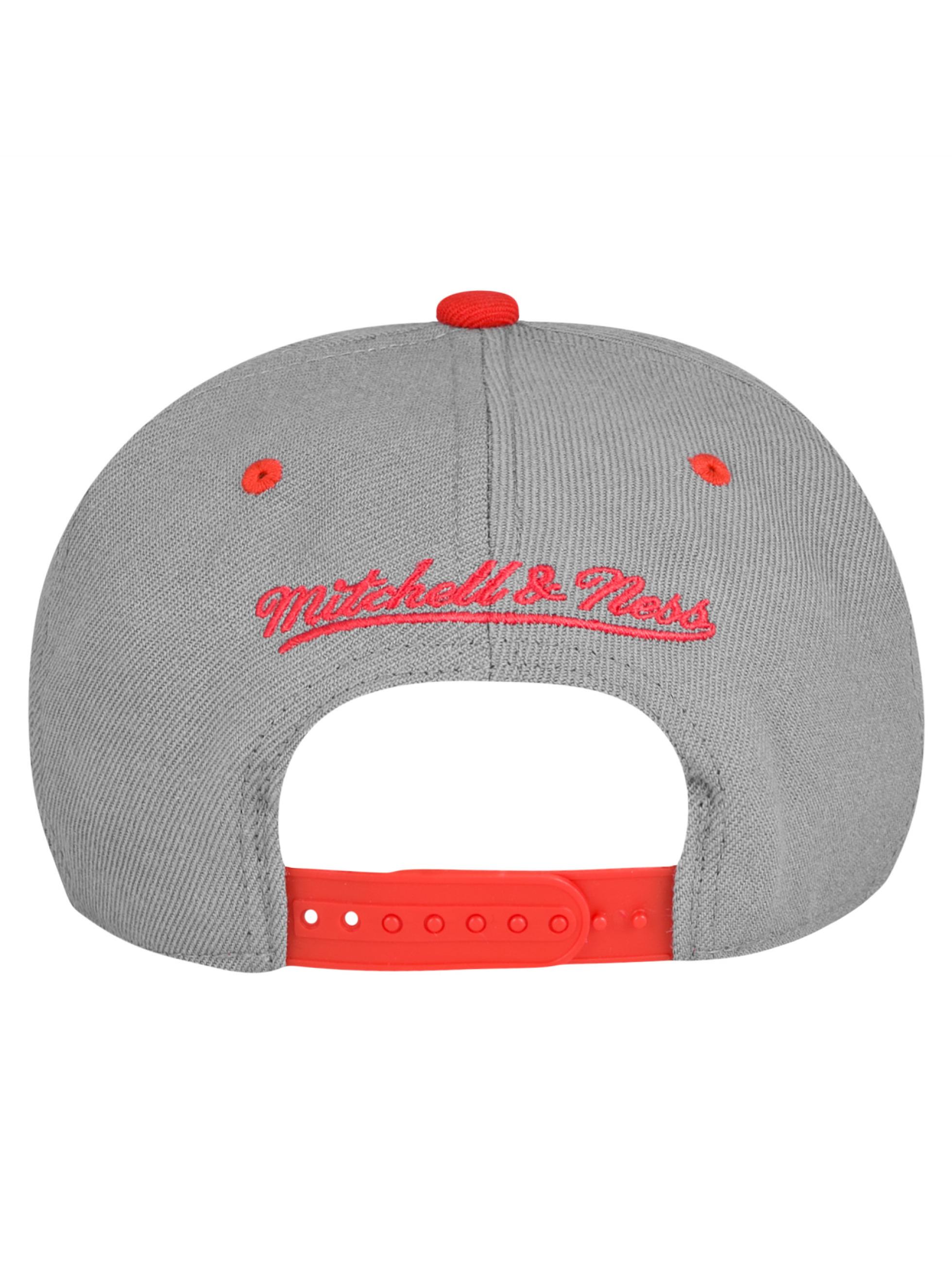 Mitchell & Ness Snapback Caps Chicago Bulls harmaa