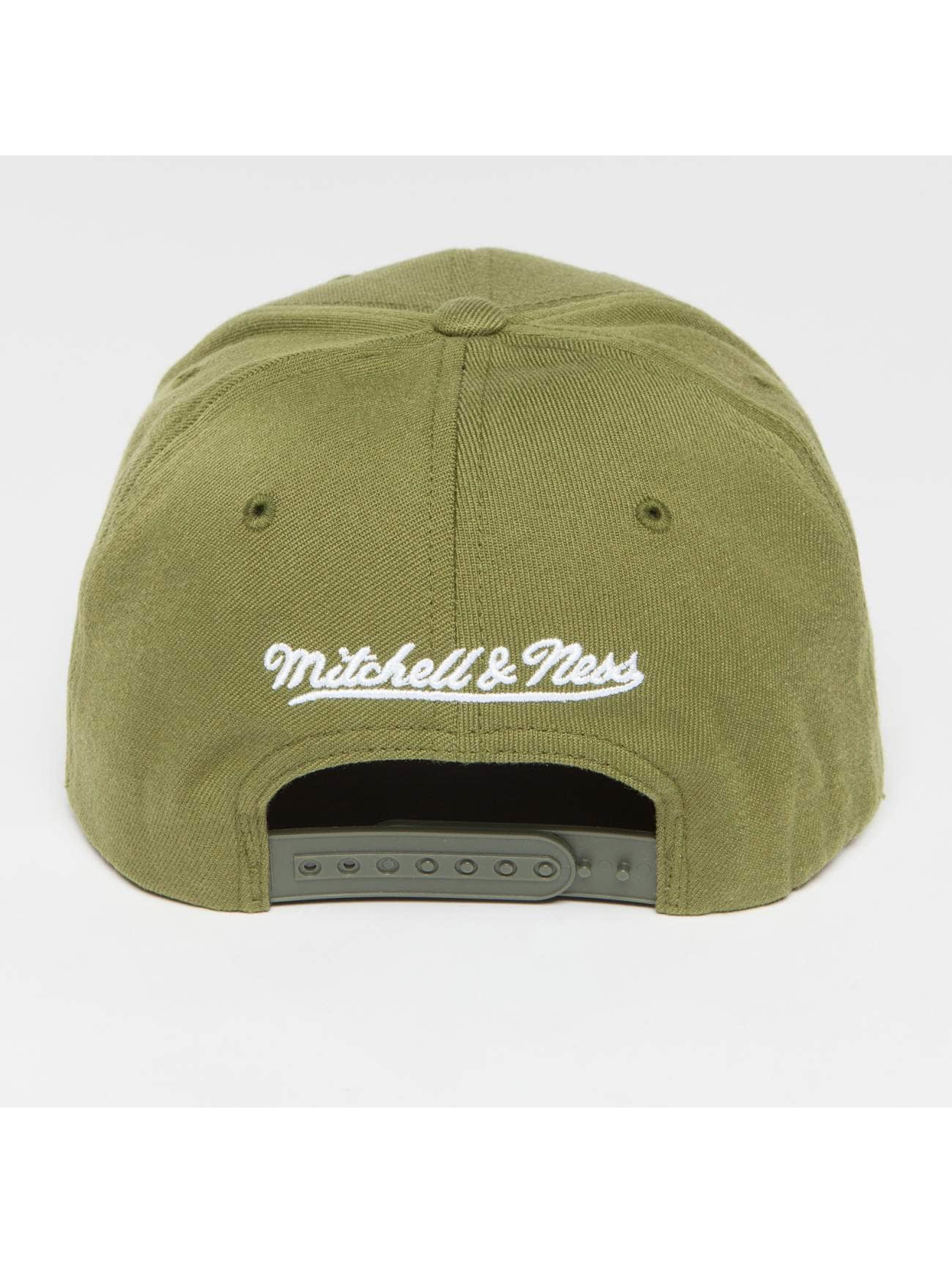 Mitchell & Ness Snapback Caps Own Brand Pinscript High Crown 110 oliven