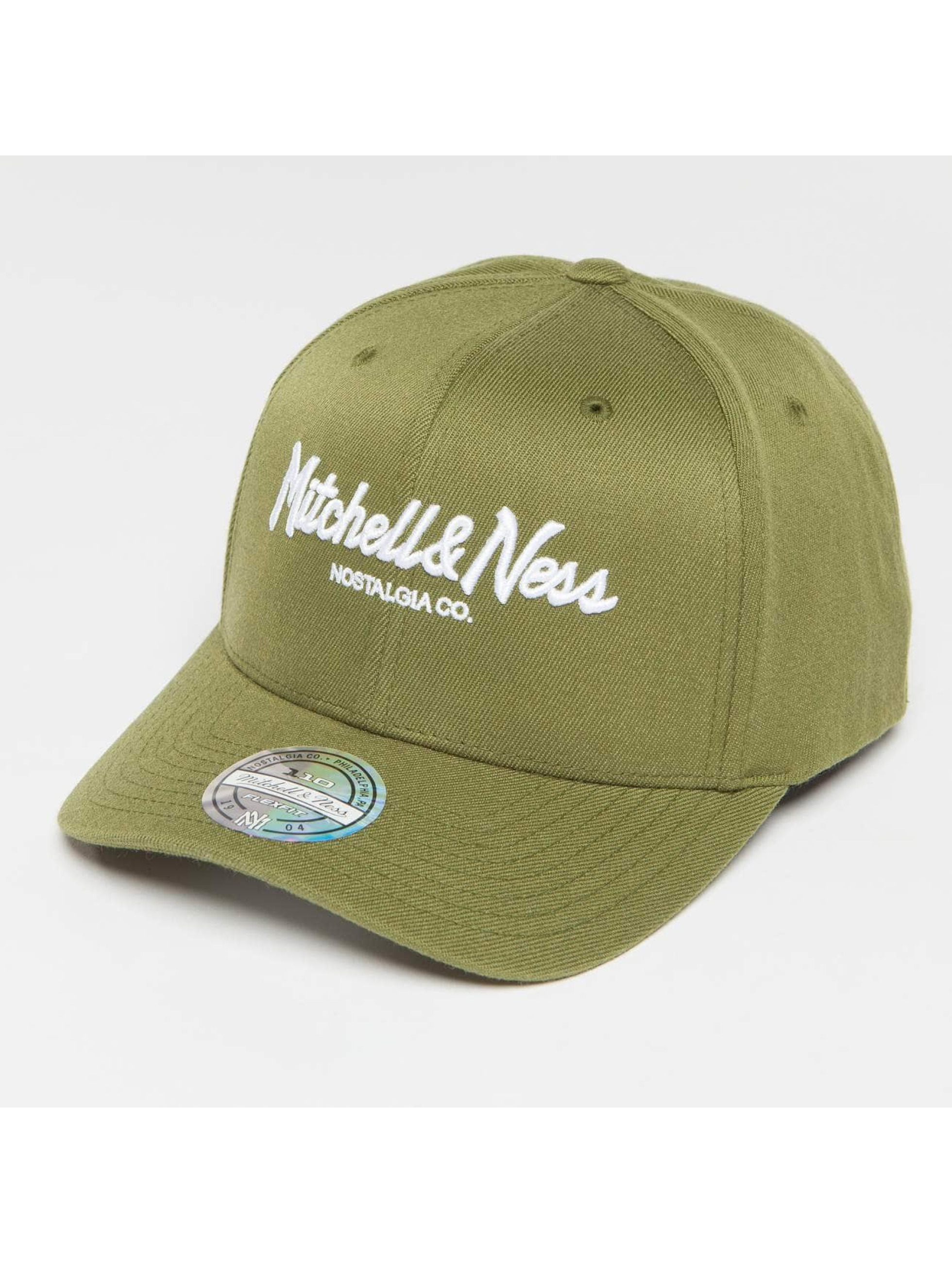 Mitchell & Ness Snapback Caps Own Brand Pinscript High Crown 110 oliwkowy