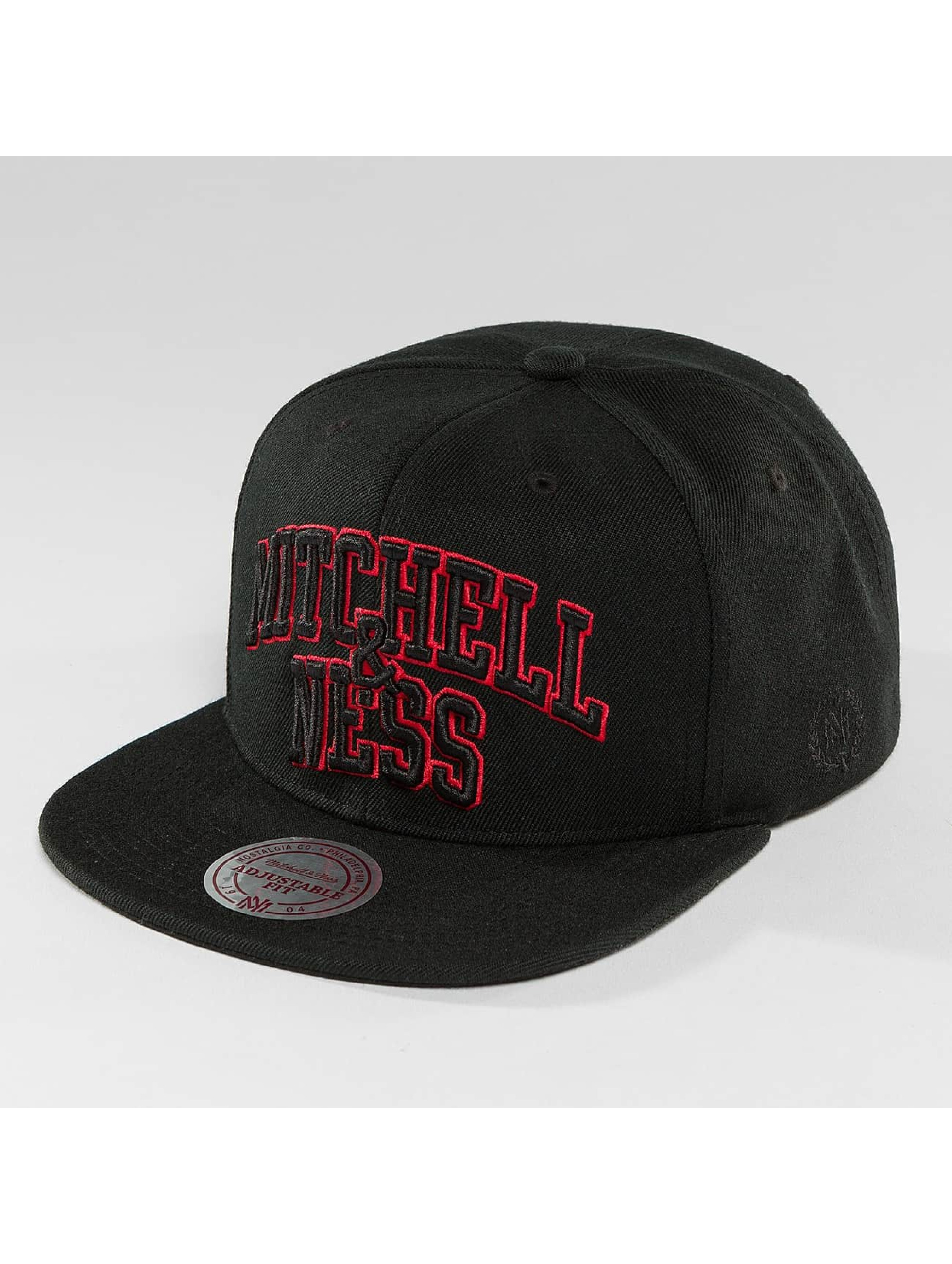 Mitchell & Ness Snapback Caps Red Pop Team Arch svart