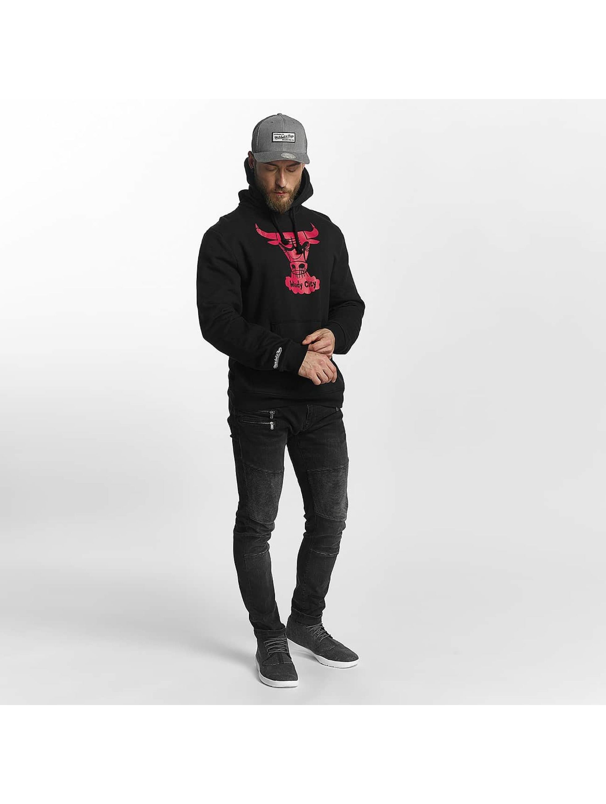 Mitchell & Ness Sweat capuche Red Pop noir