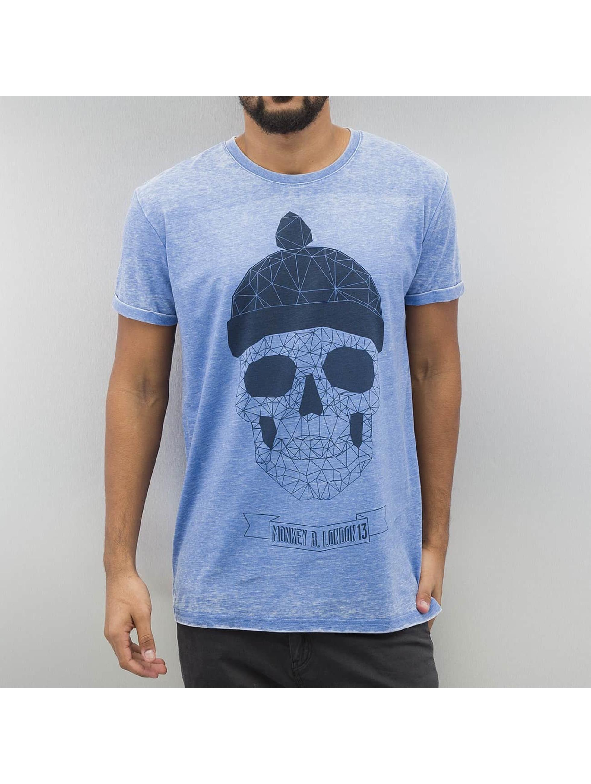 Monkey Business T-shirt Geometric Skull blå