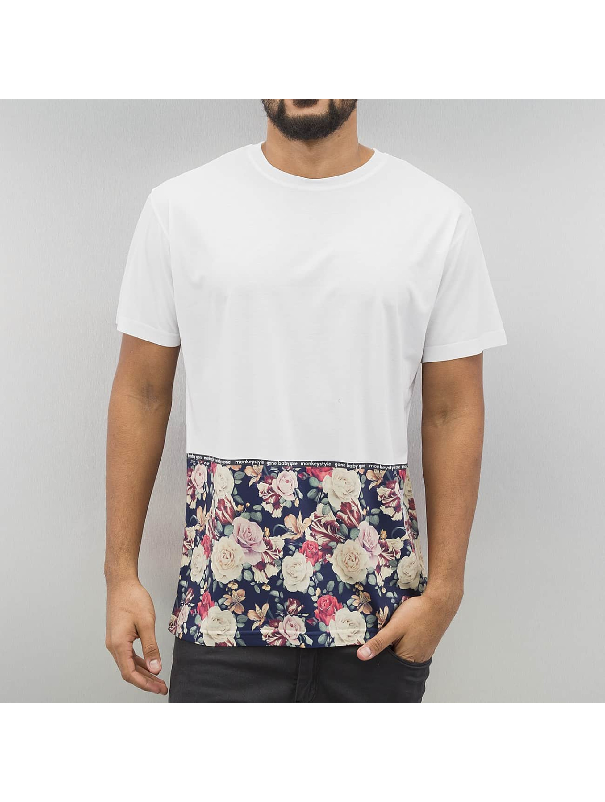 T-Shirt Monkey Business Flowers Hem en blanc