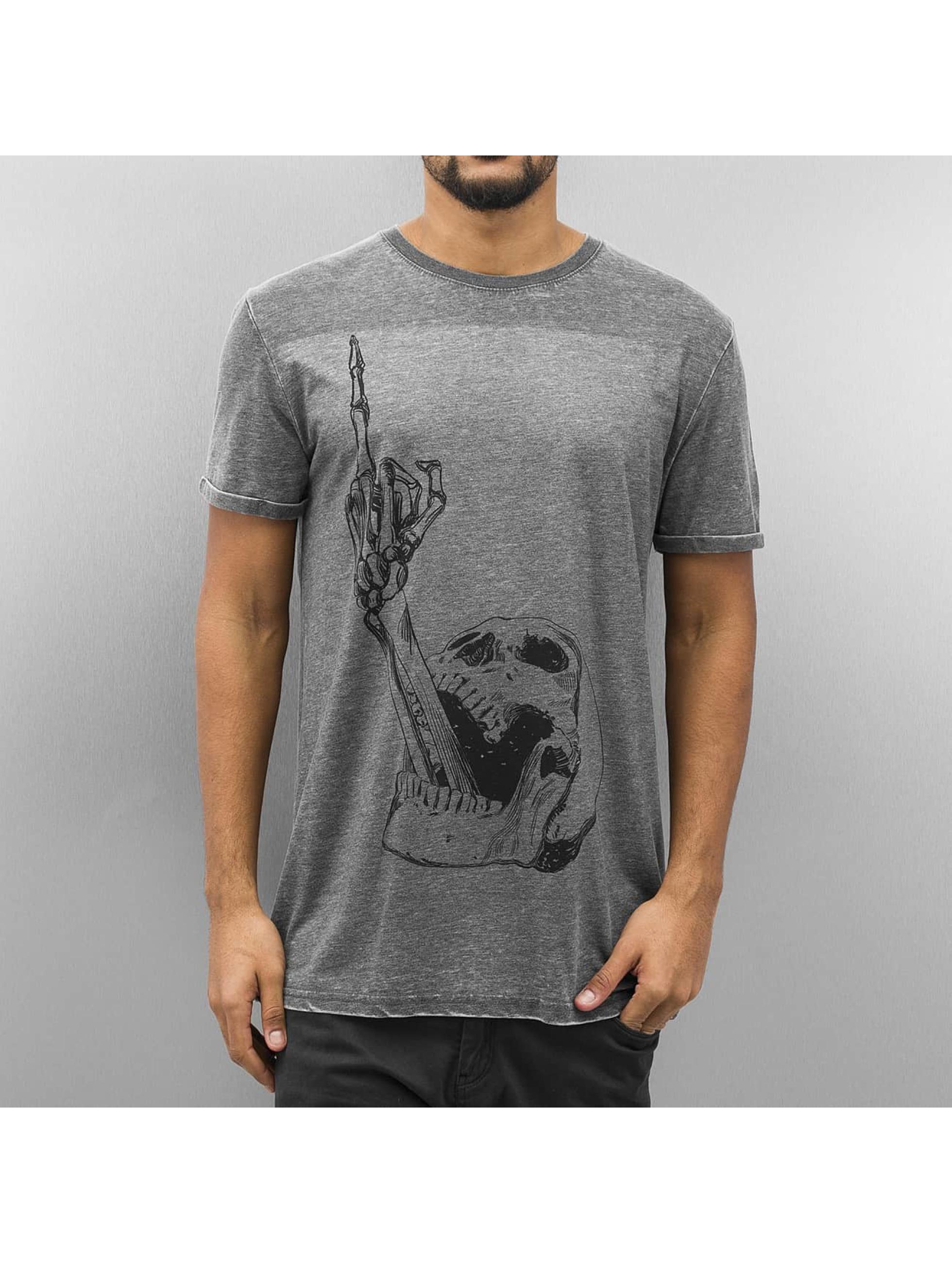 Monkey Business T-Shirt Finger Skull grau