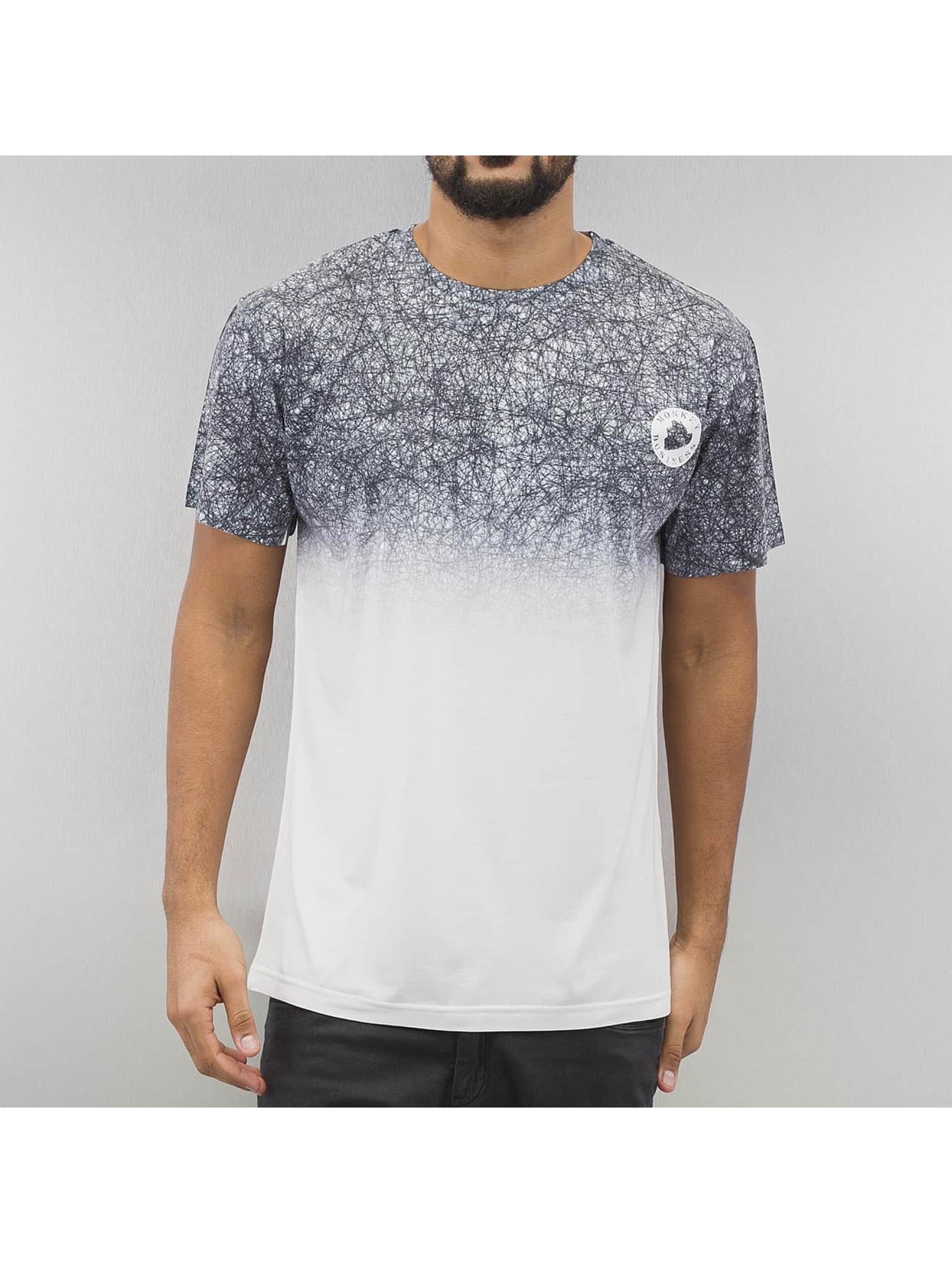 Monkey Business T-Shirt Black Scribble gray