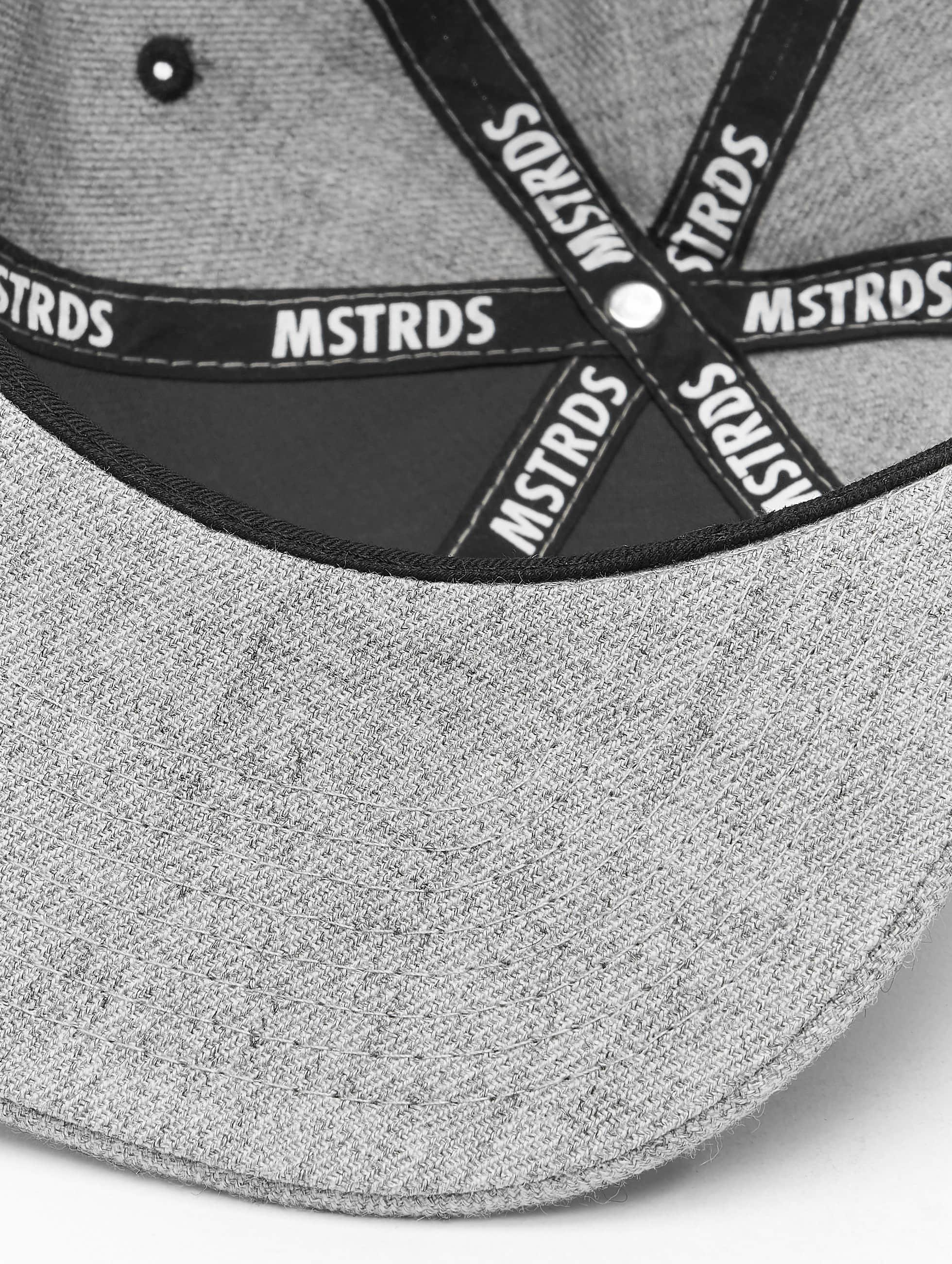 MSTRDS Кепка с застёжкой G Letter серый