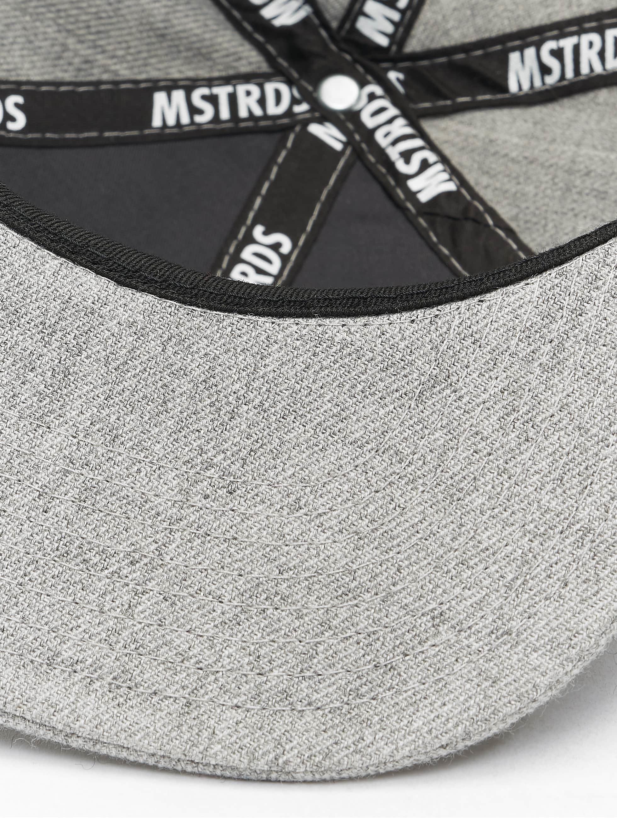 MSTRDS Кепка с застёжкой K Letter серый