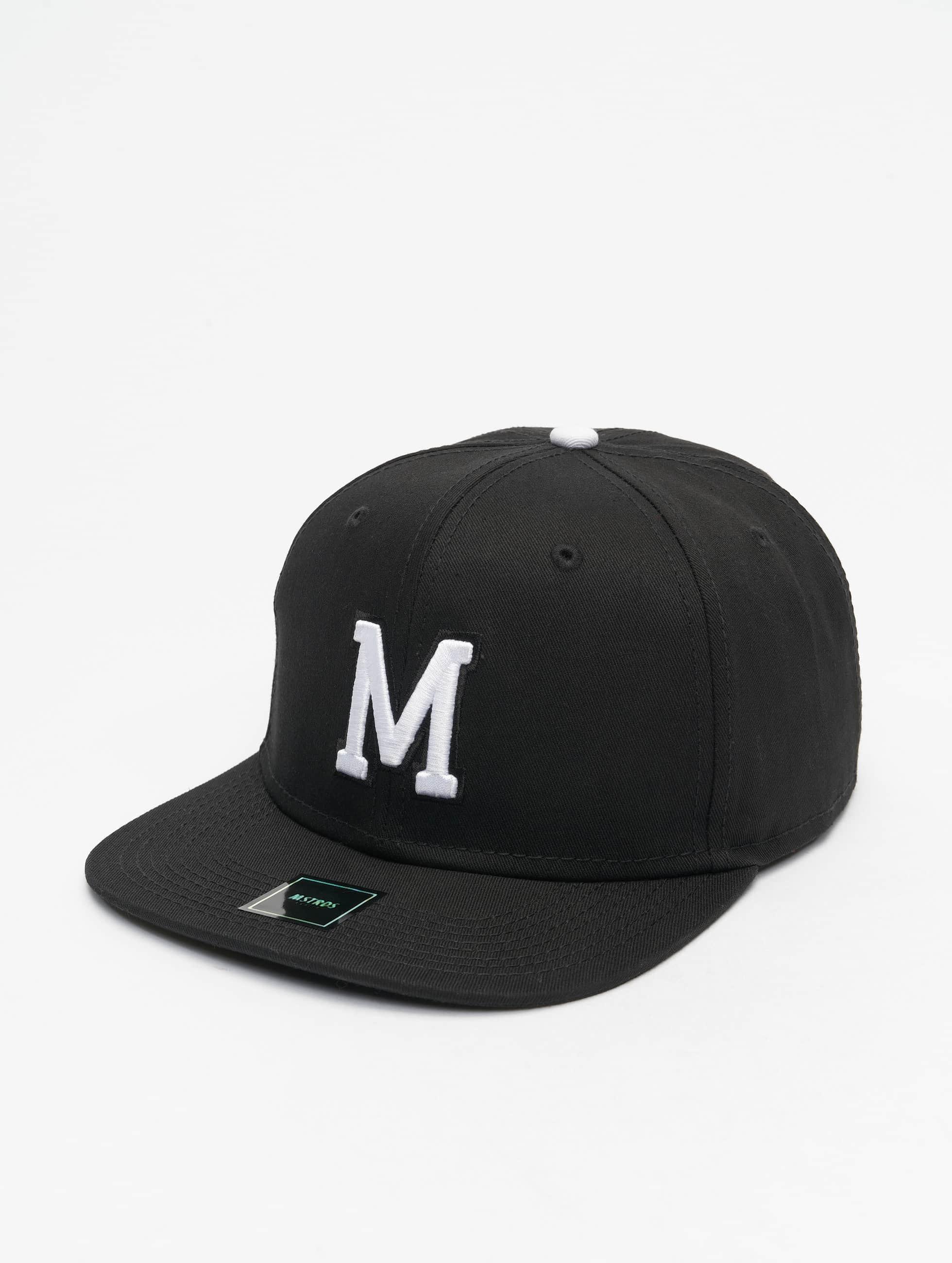 MSTRDS Кепка с застёжкой M Letter черный