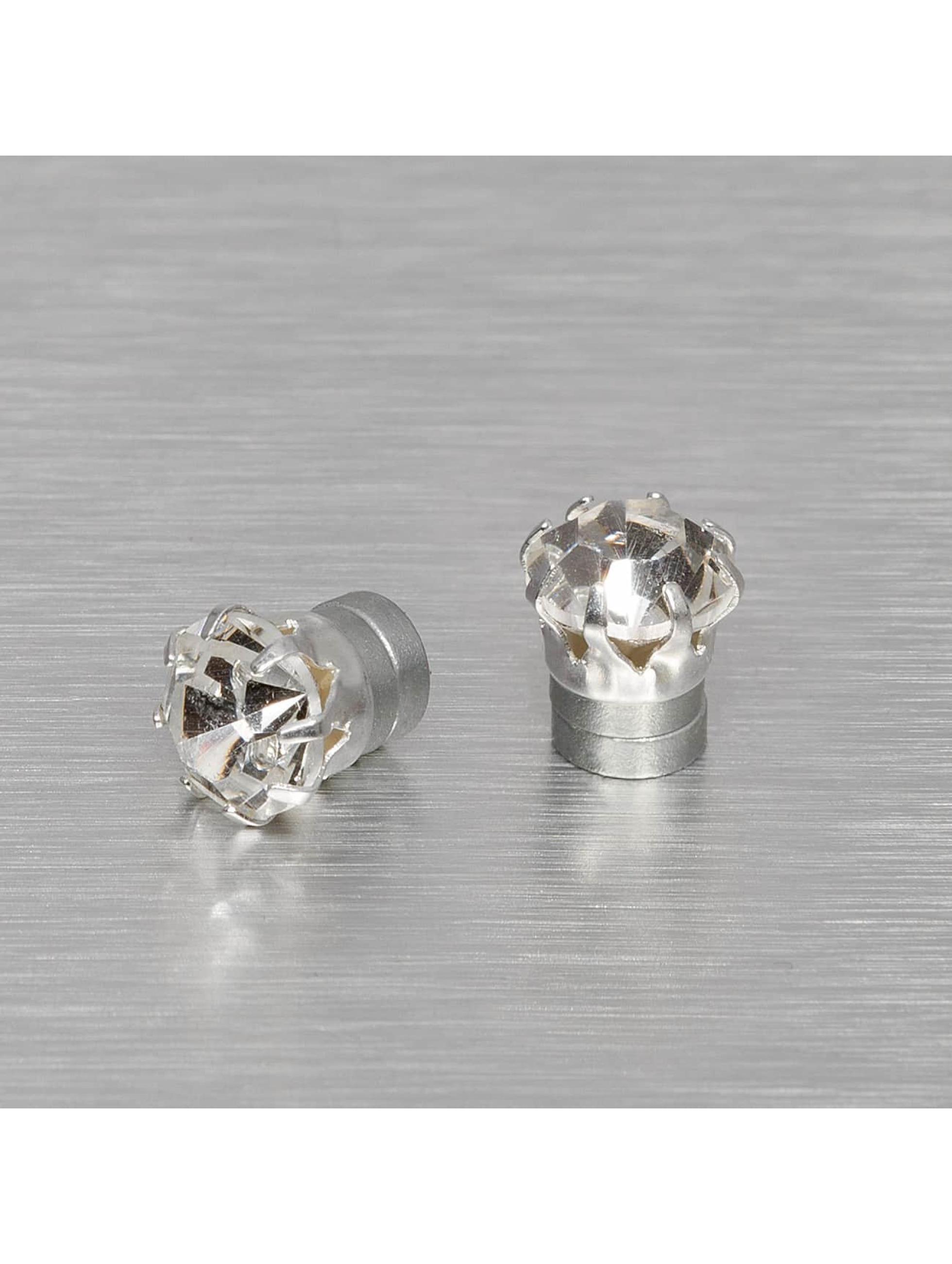 MSTRDS Серьга Mangnet Crystal 8mm серебро
