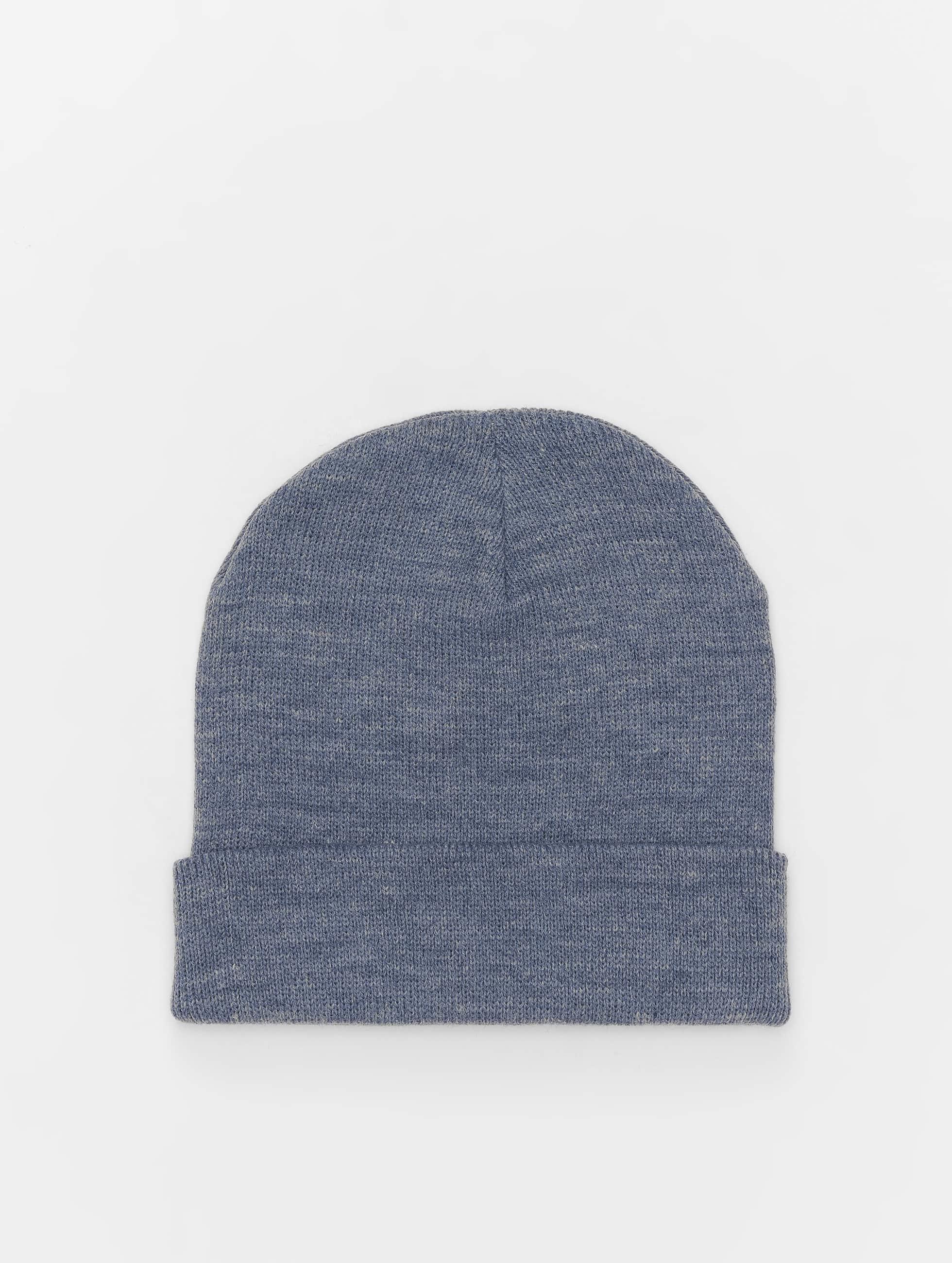 Beanie Basic Flap in blau