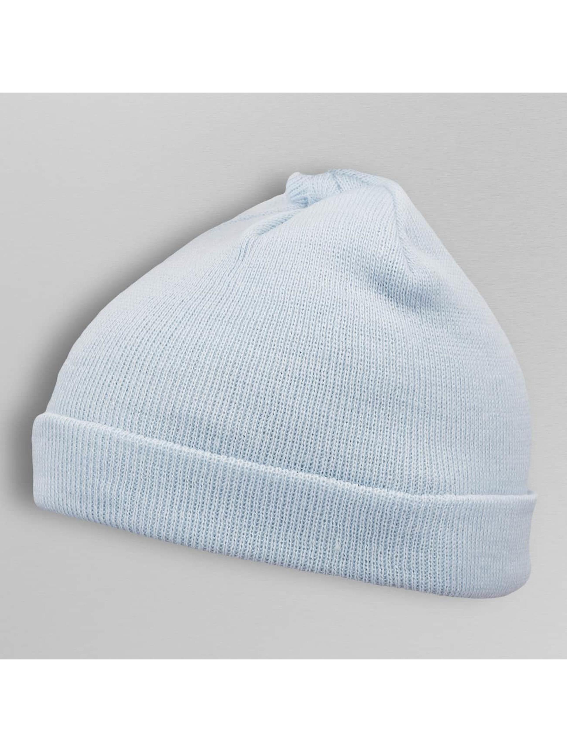 MSTRDS Beanie Short Pastel Cuff Knit blau