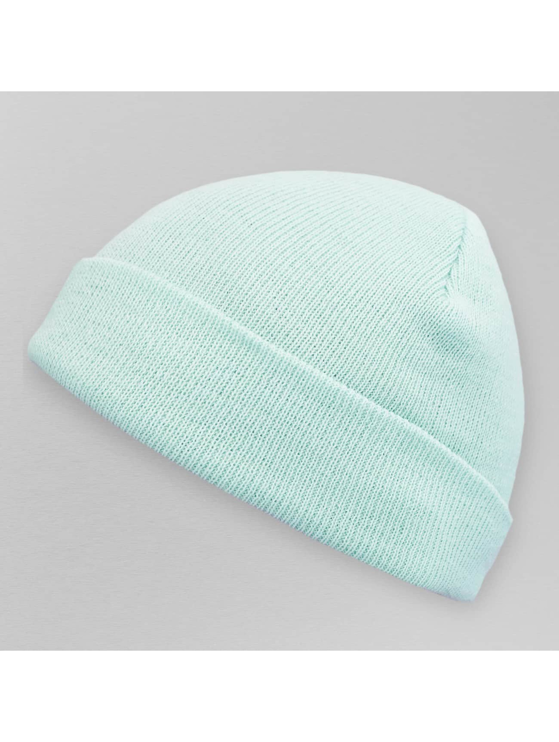 MSTRDS Beanie Pastel Basic Flap blau