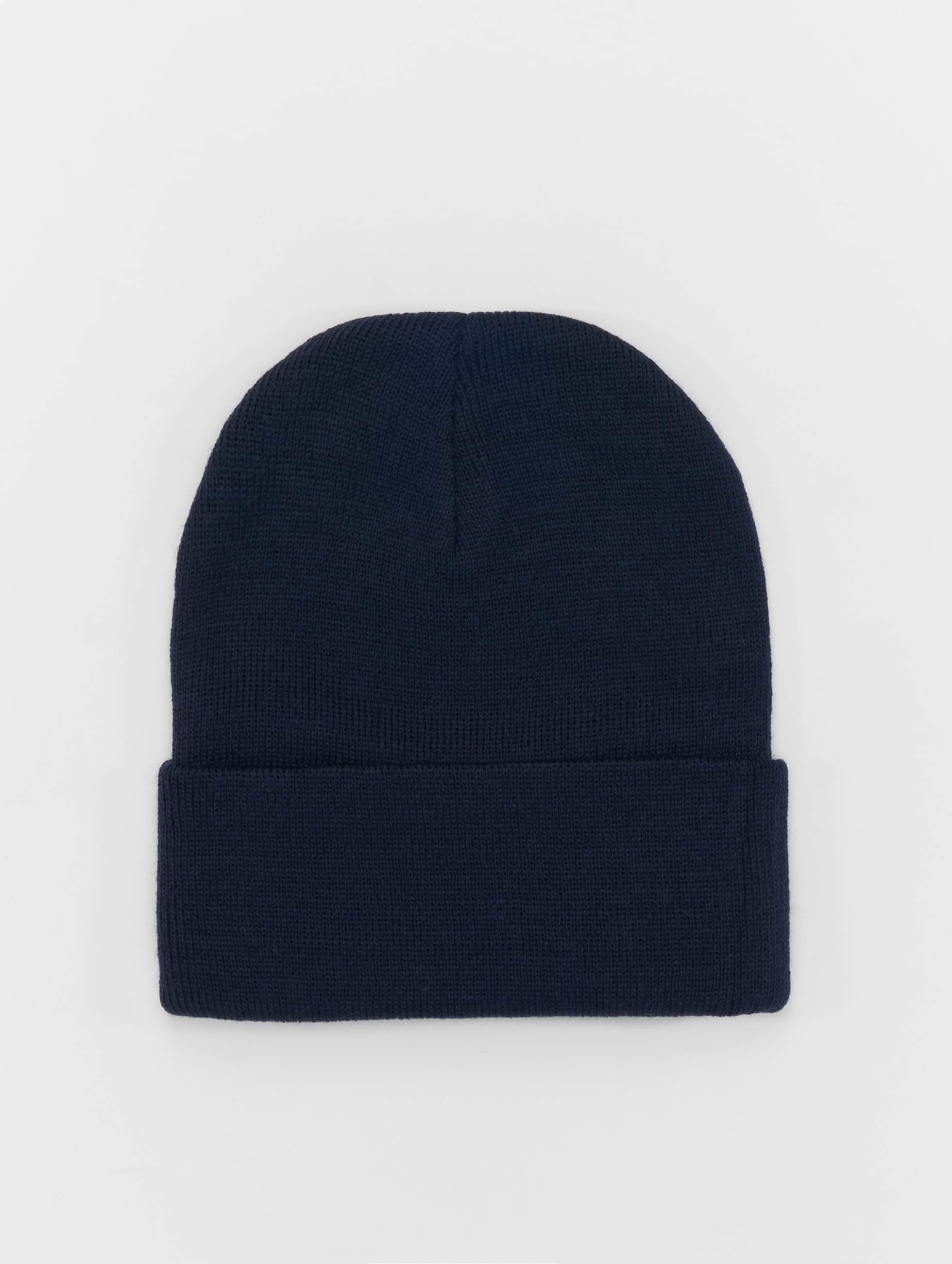 MSTRDS Beanie Basic Flap Long blauw