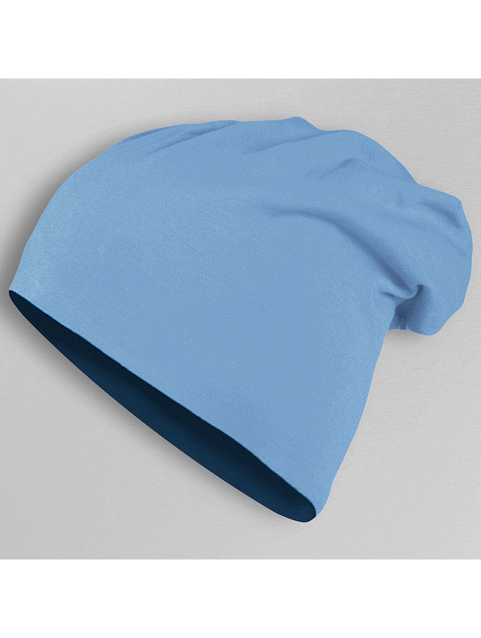 MSTRDS Beanie Jersey Reversible blauw