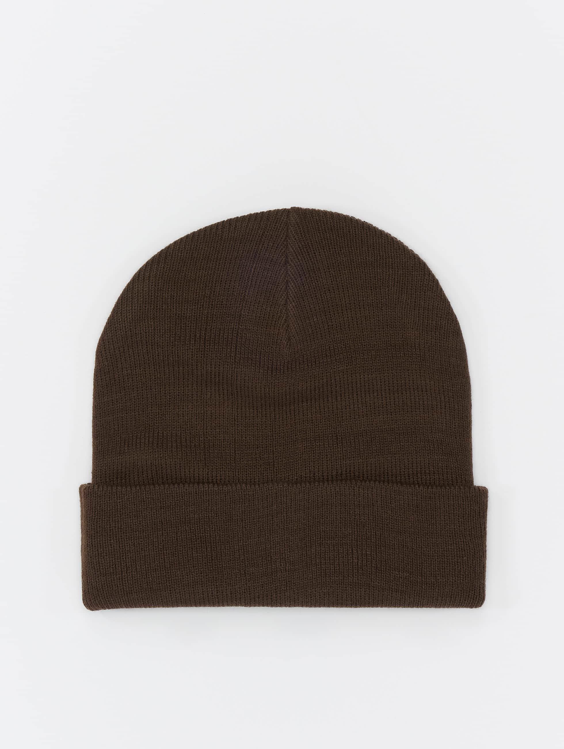MSTRDS Beanie Basic Flap bruin