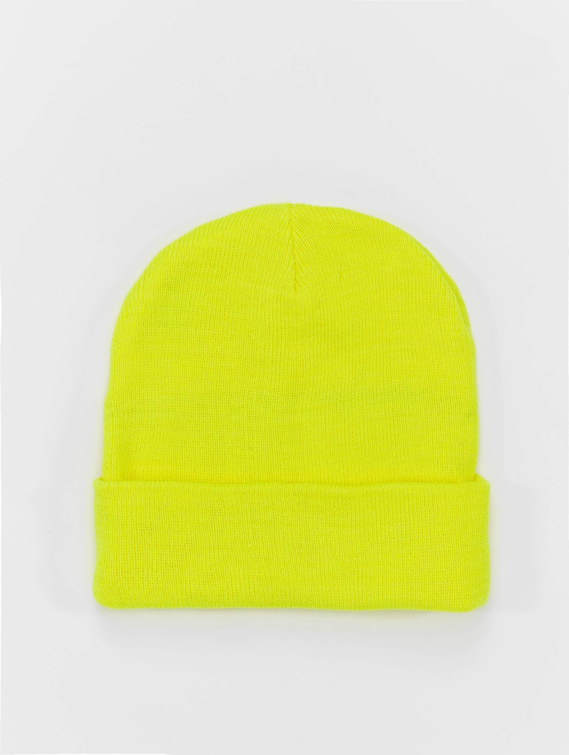MSTRDS Beanie Basic Flap gelb